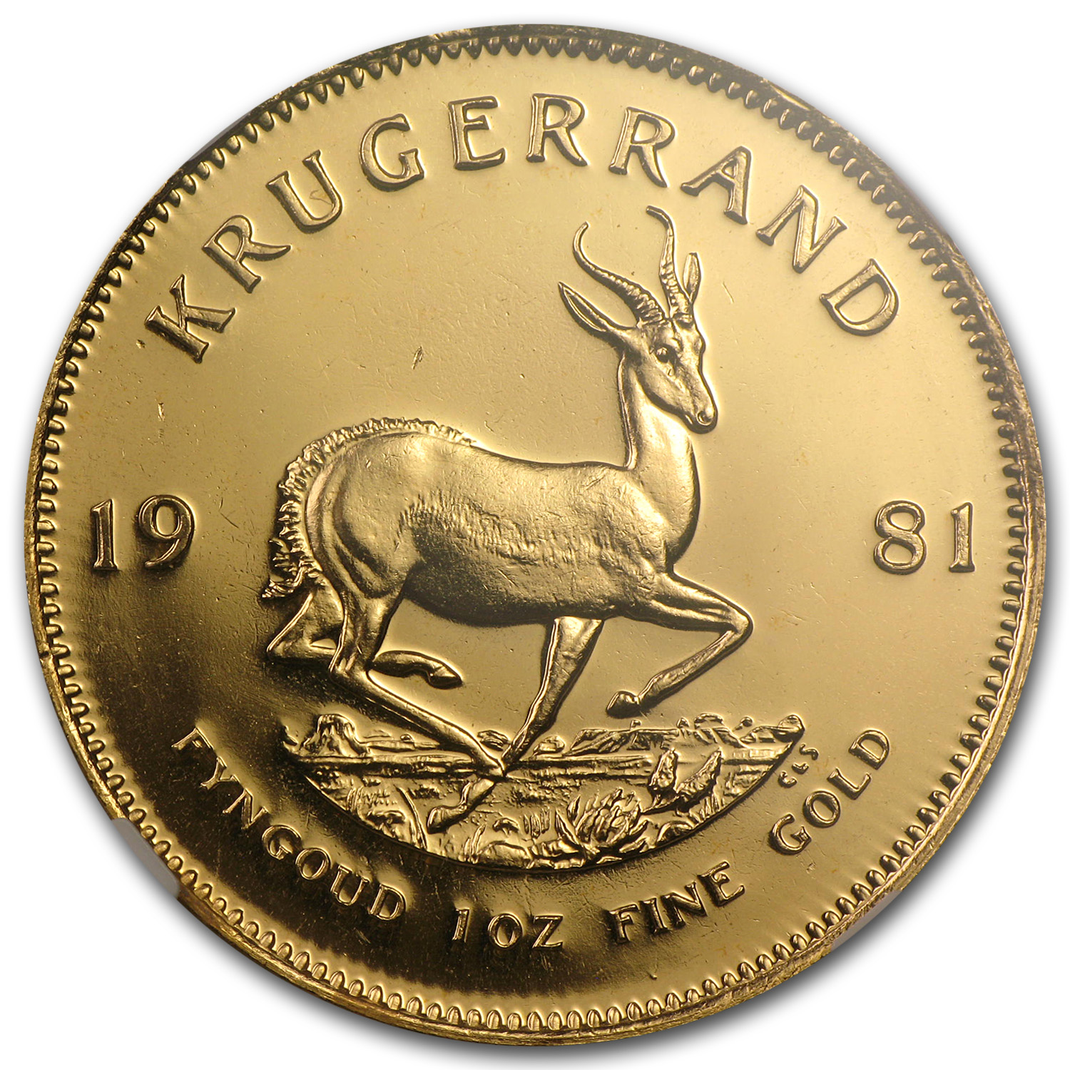 1981 South Africa 1 oz Gold Krugerrand MS-67 NGC