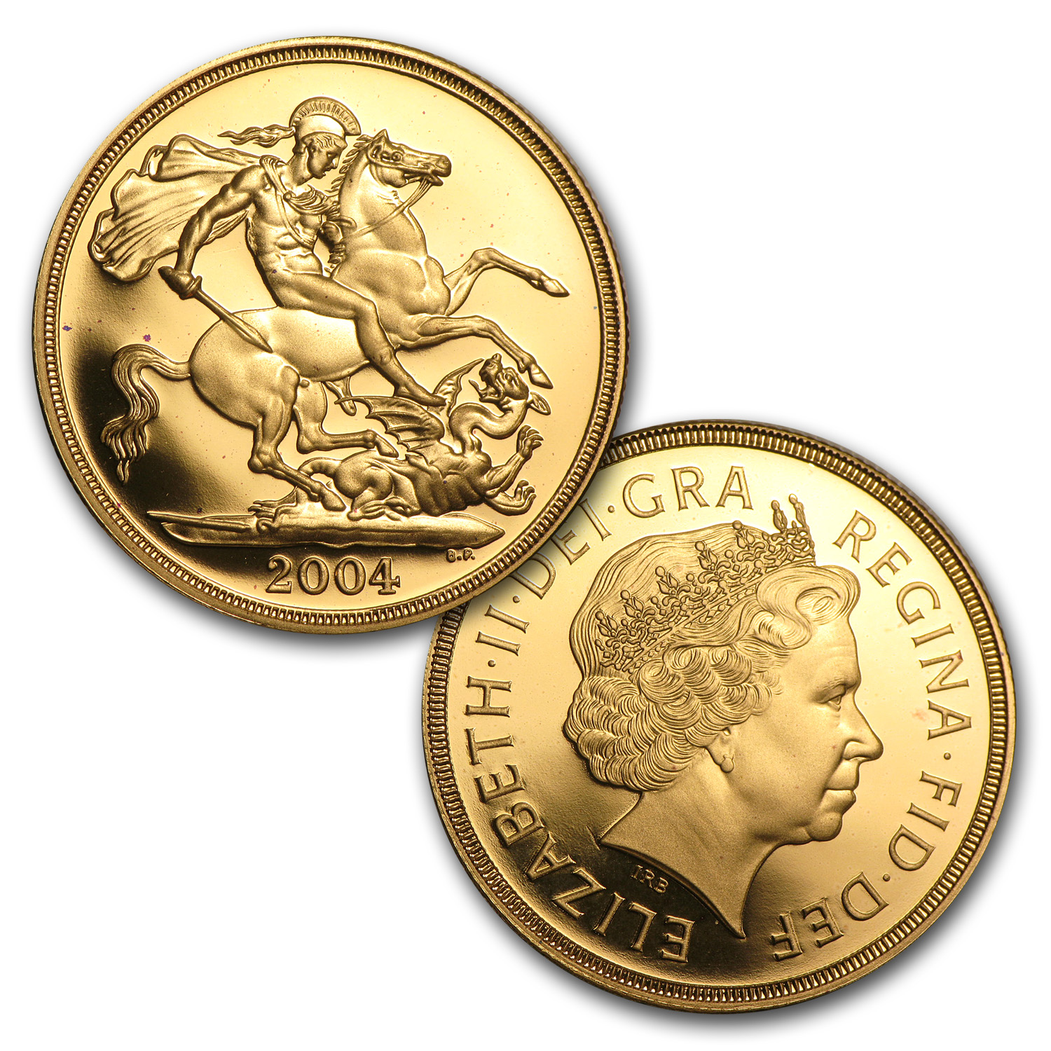 Great Britain 2004 5 Coin Gold Sovereign Proof Set