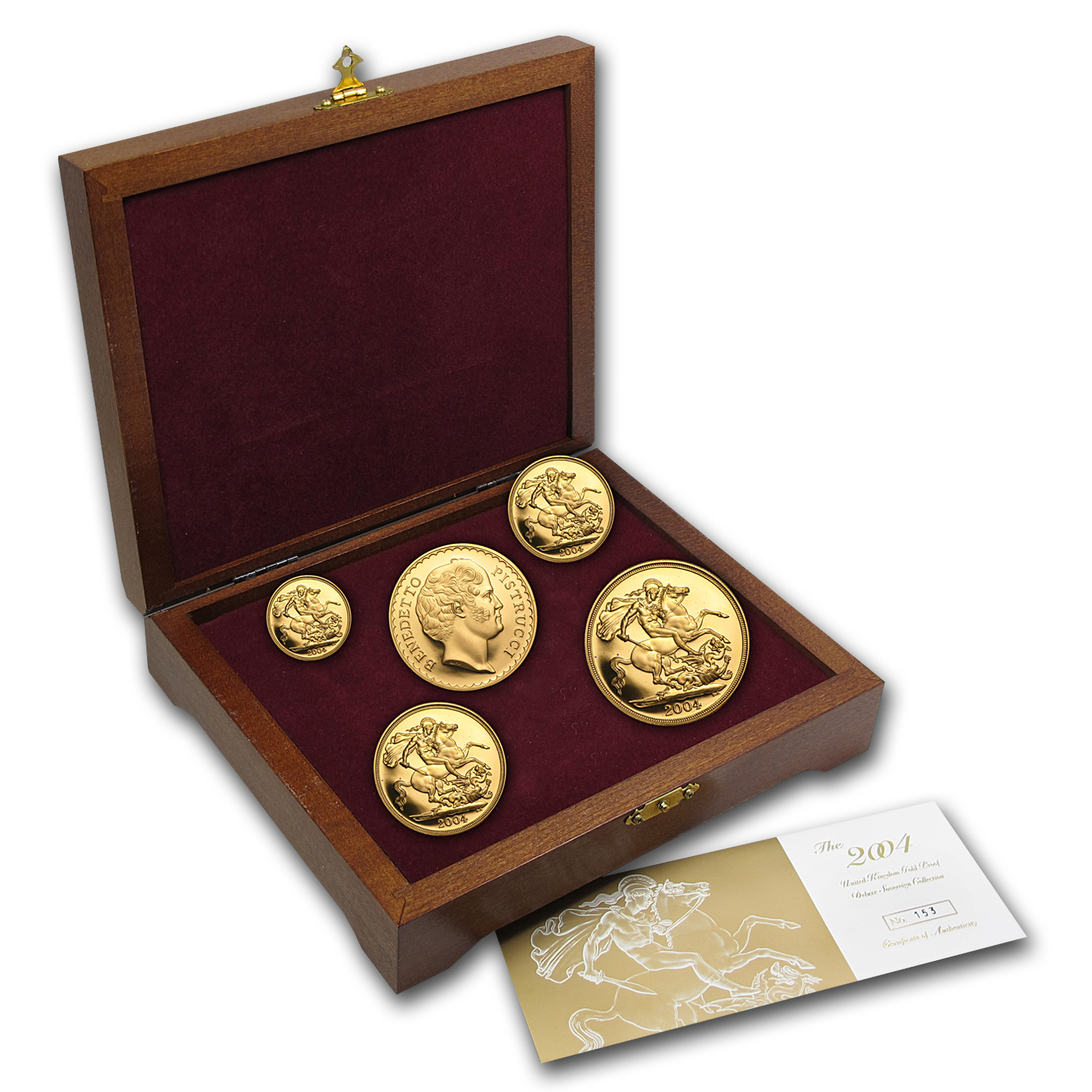 2004 Great Britain 5-Coin Gold Sovereign Proof Set