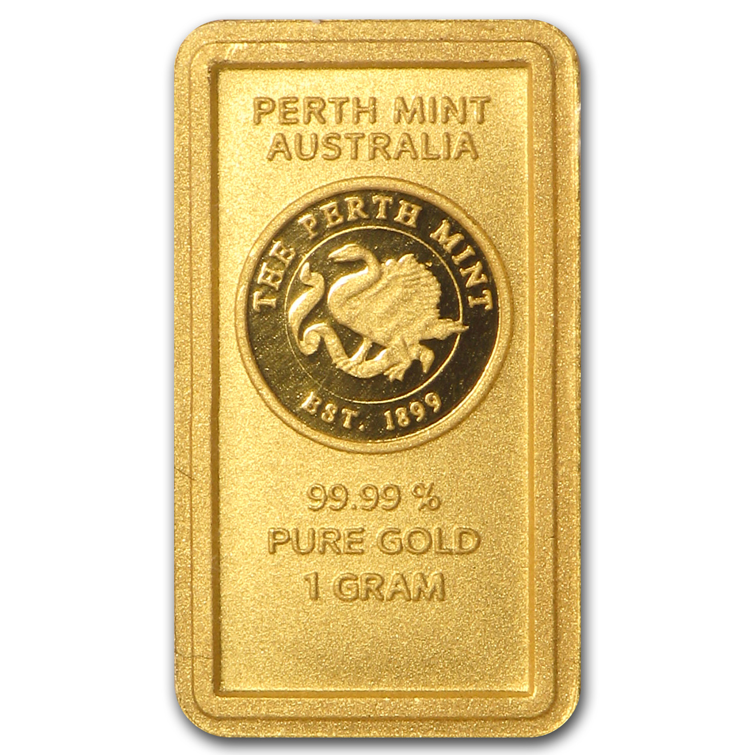 1 gram Gold Bar - Perth Mint Old Style Swan