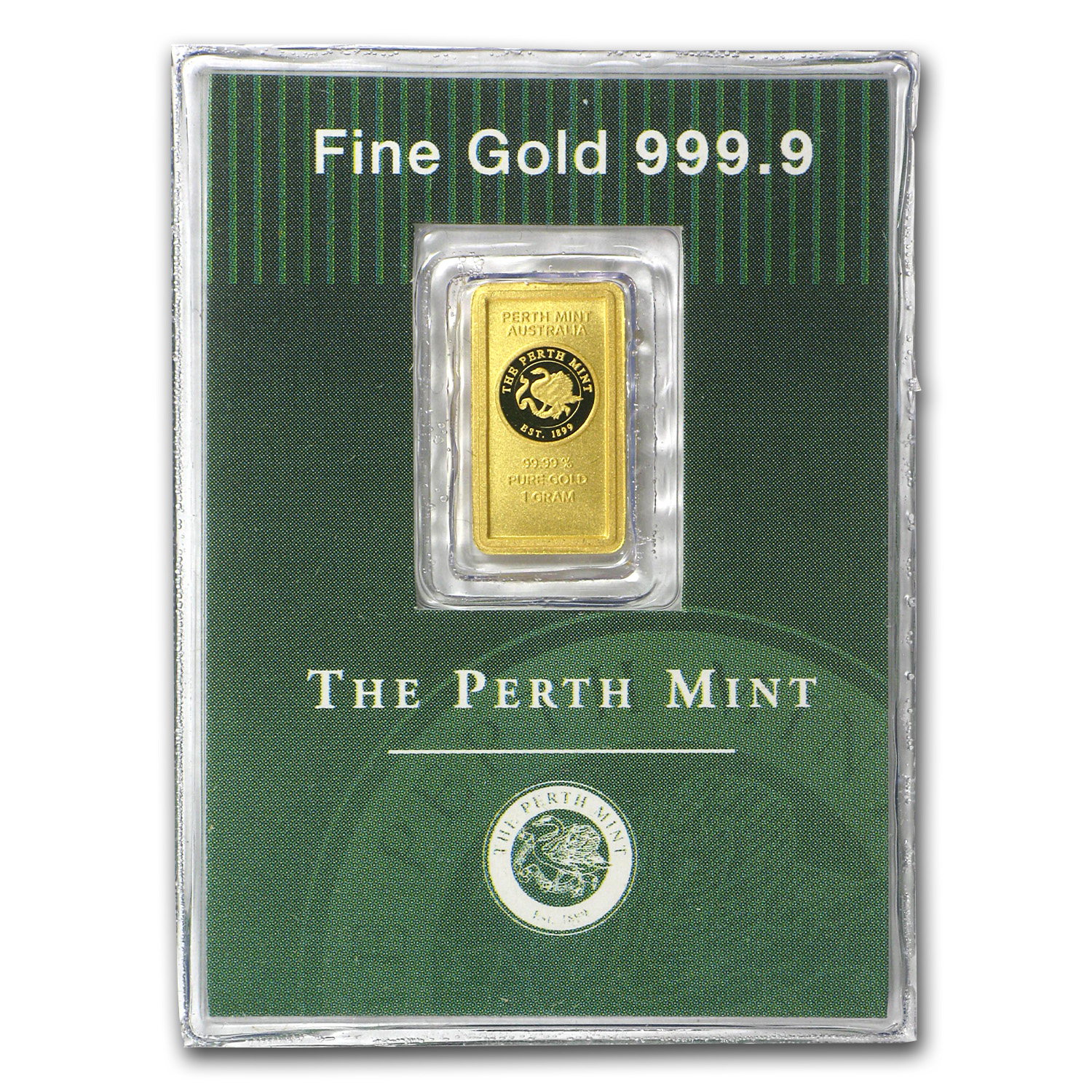 1 gram Gold Bars - Perth Mint (Old Style Swan)