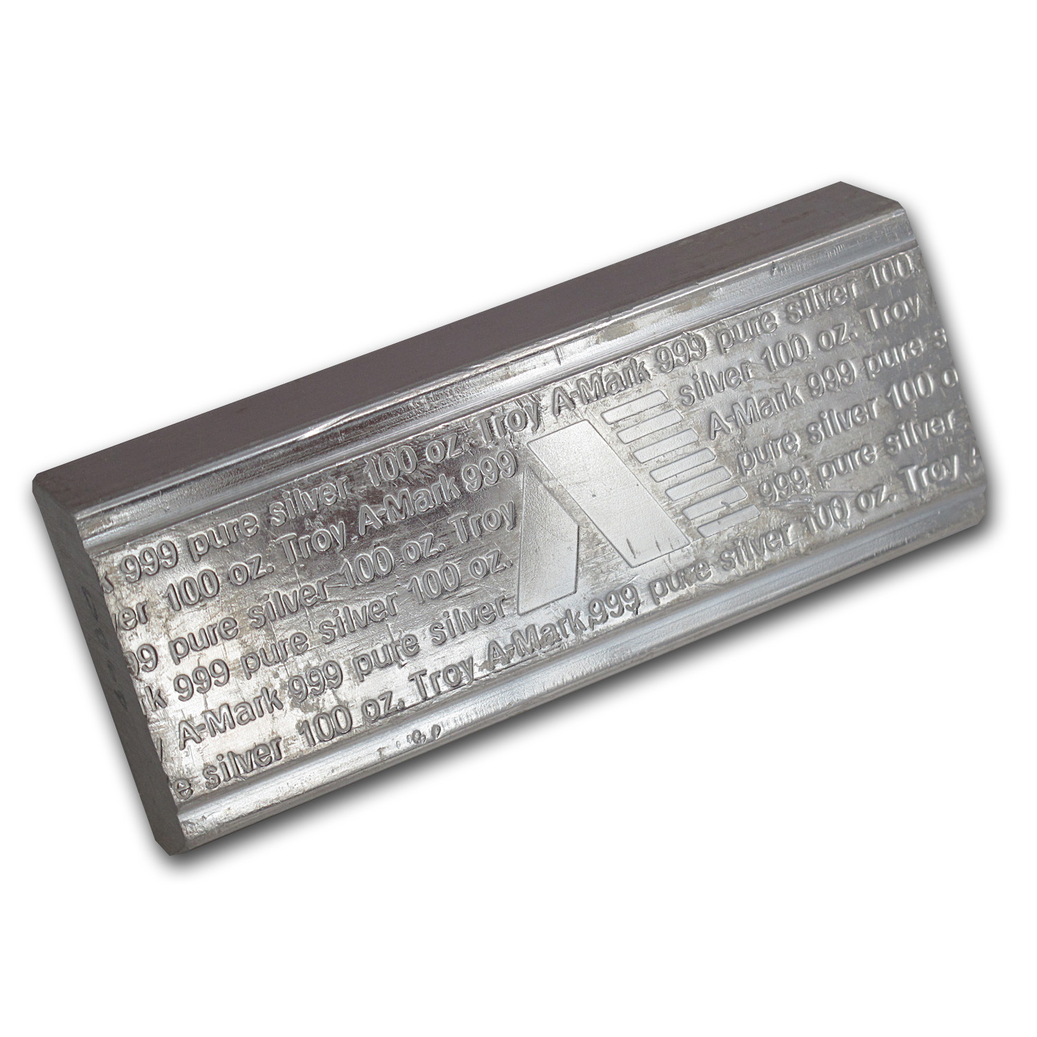 100 oz Silver Bar - A-Mark (Stackable)