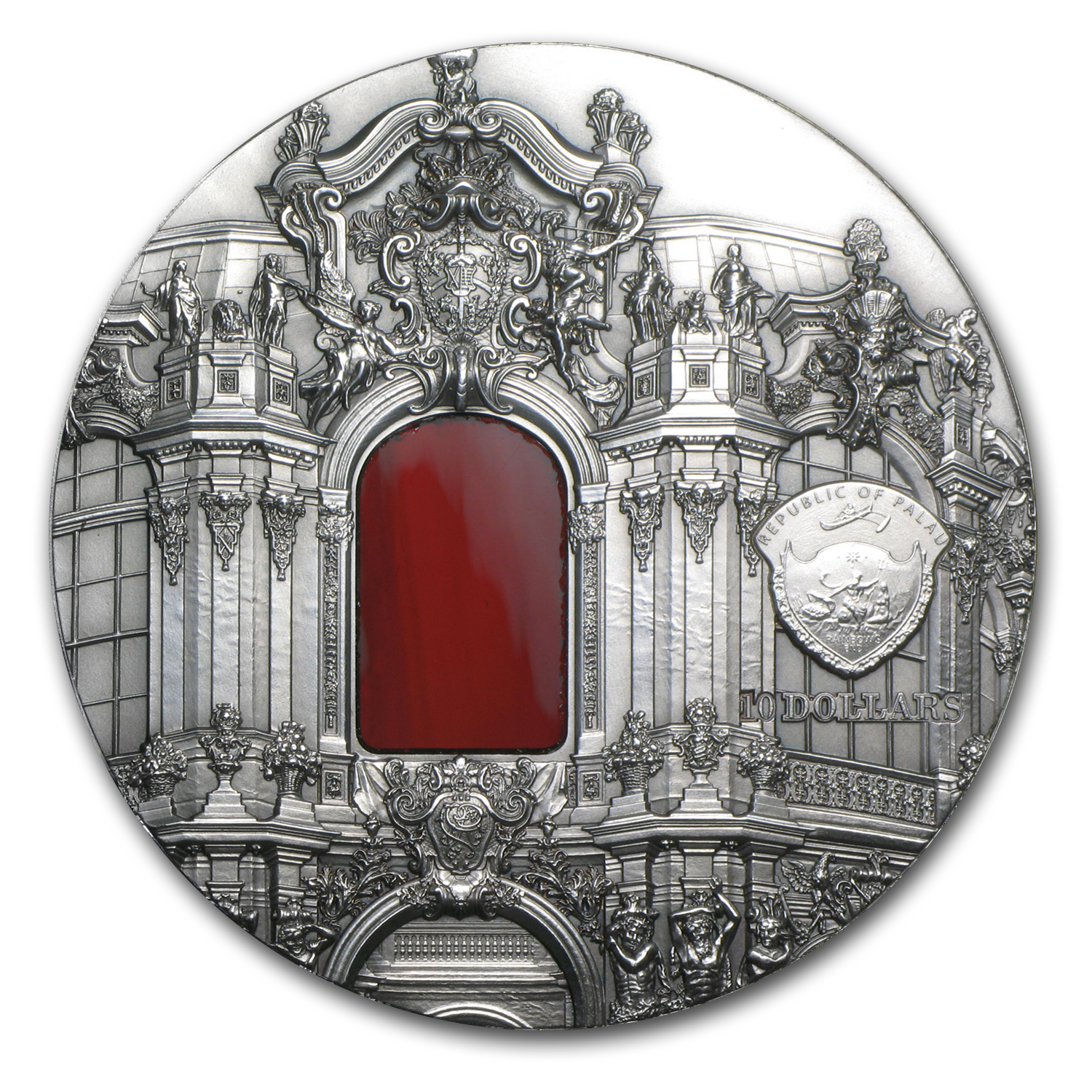 Palau 2014 2 oz Silver Tiffany Art - Baroque Dresden