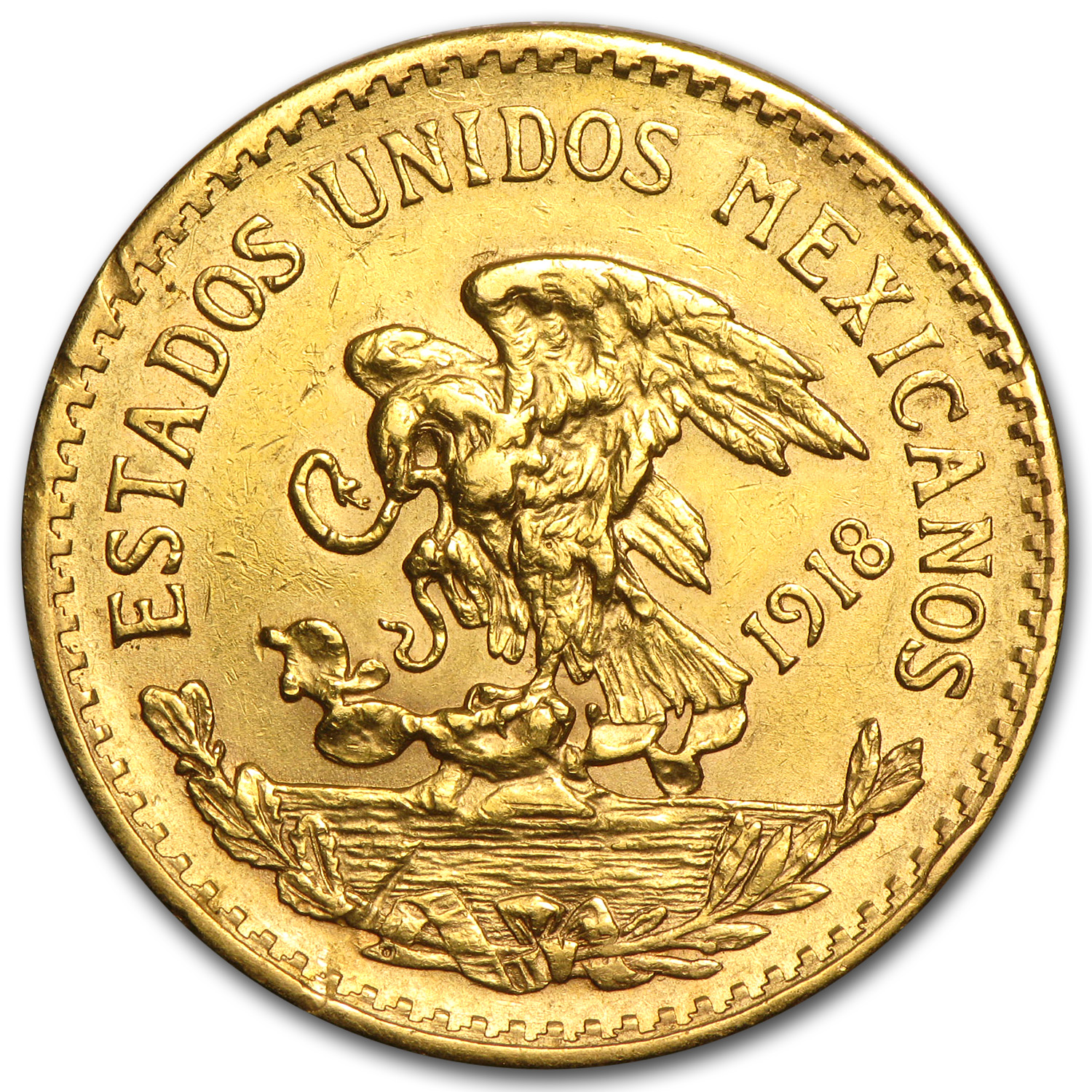 1917-1921 Mexican Gold 20 Pesos (Cleaned)