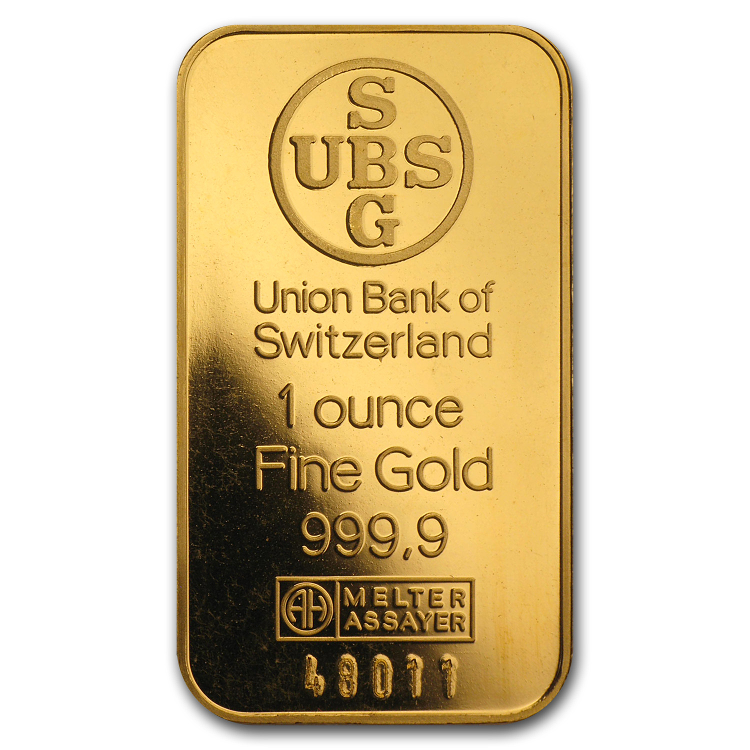 1 oz Gold Bars - UBS (No Assay, Logo Back)