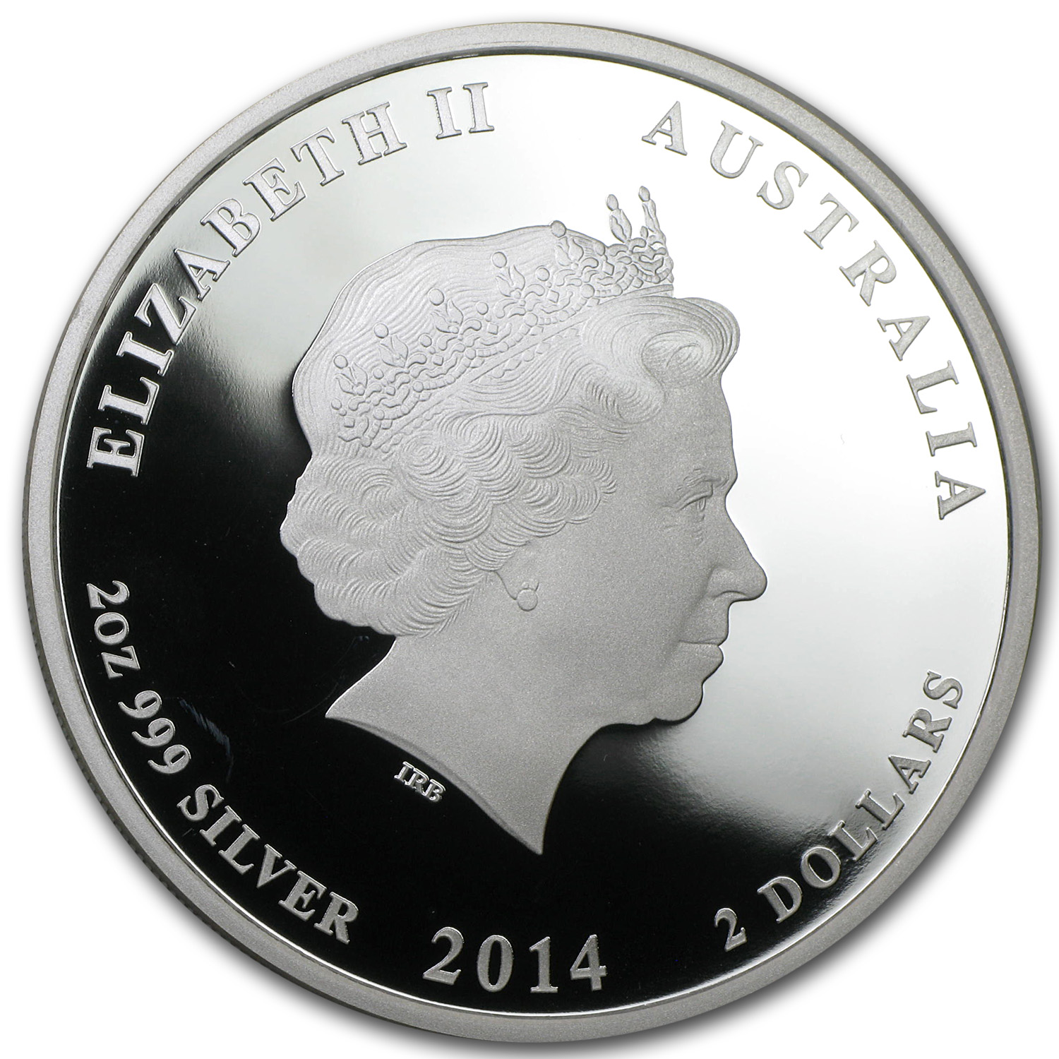 2014 Australia 2 oz Silver Horse Proof (ANDA, Colorized)