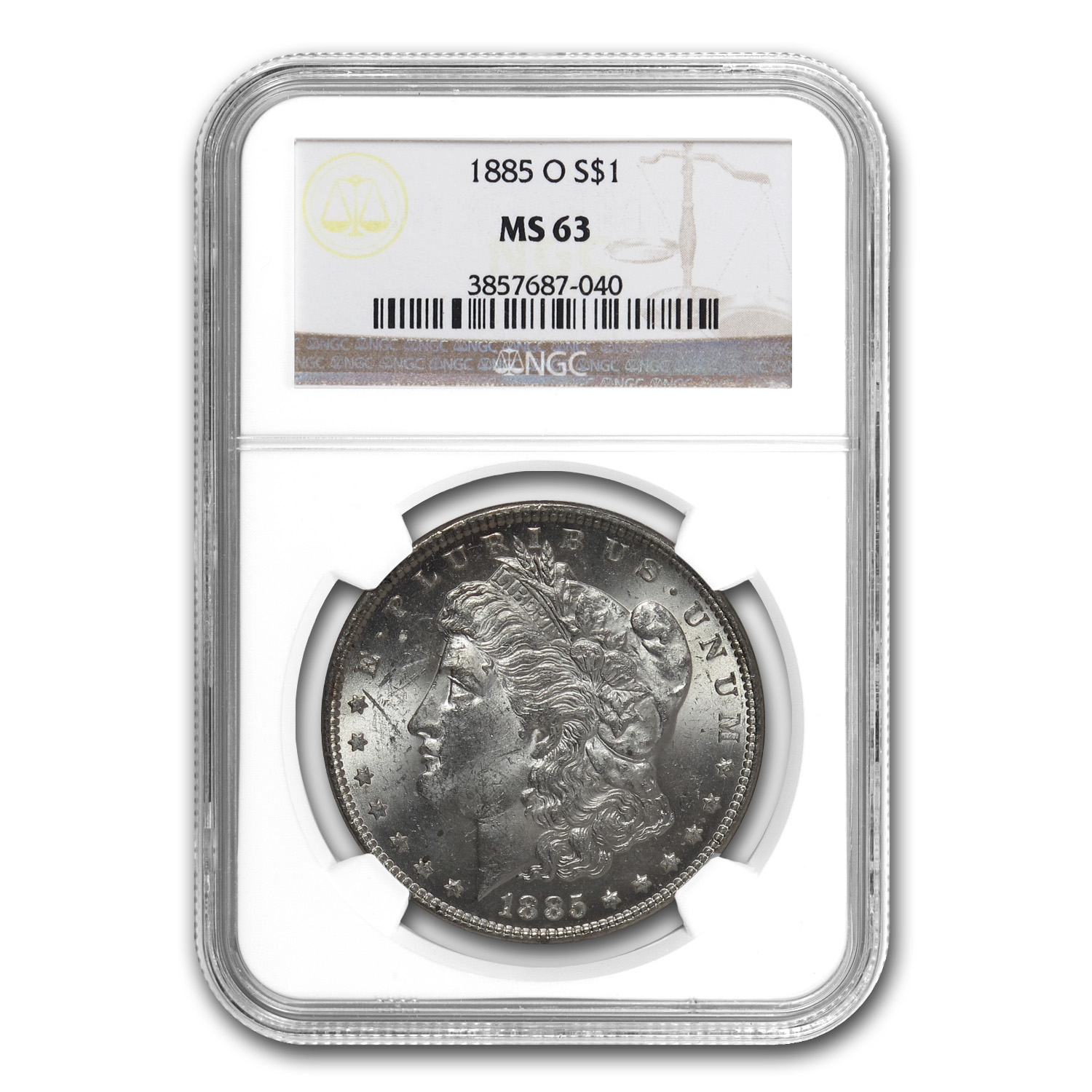 1878-1904 Morgan Dollars - MS-63 NGC - 10 Different Dates/Mints