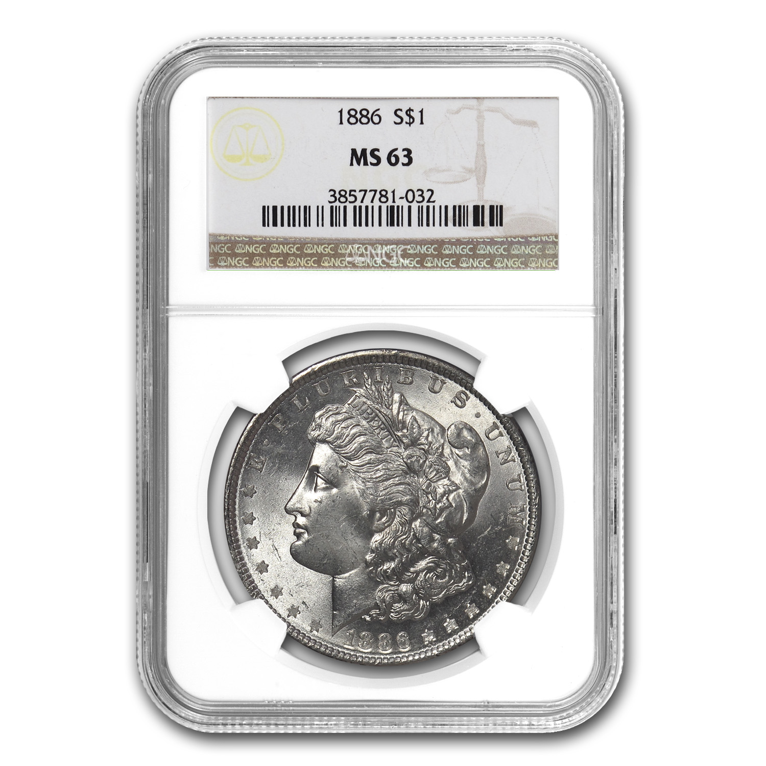 1878-1904 10-Different Dates/Mints Morgan Dollars MS-63 NGC