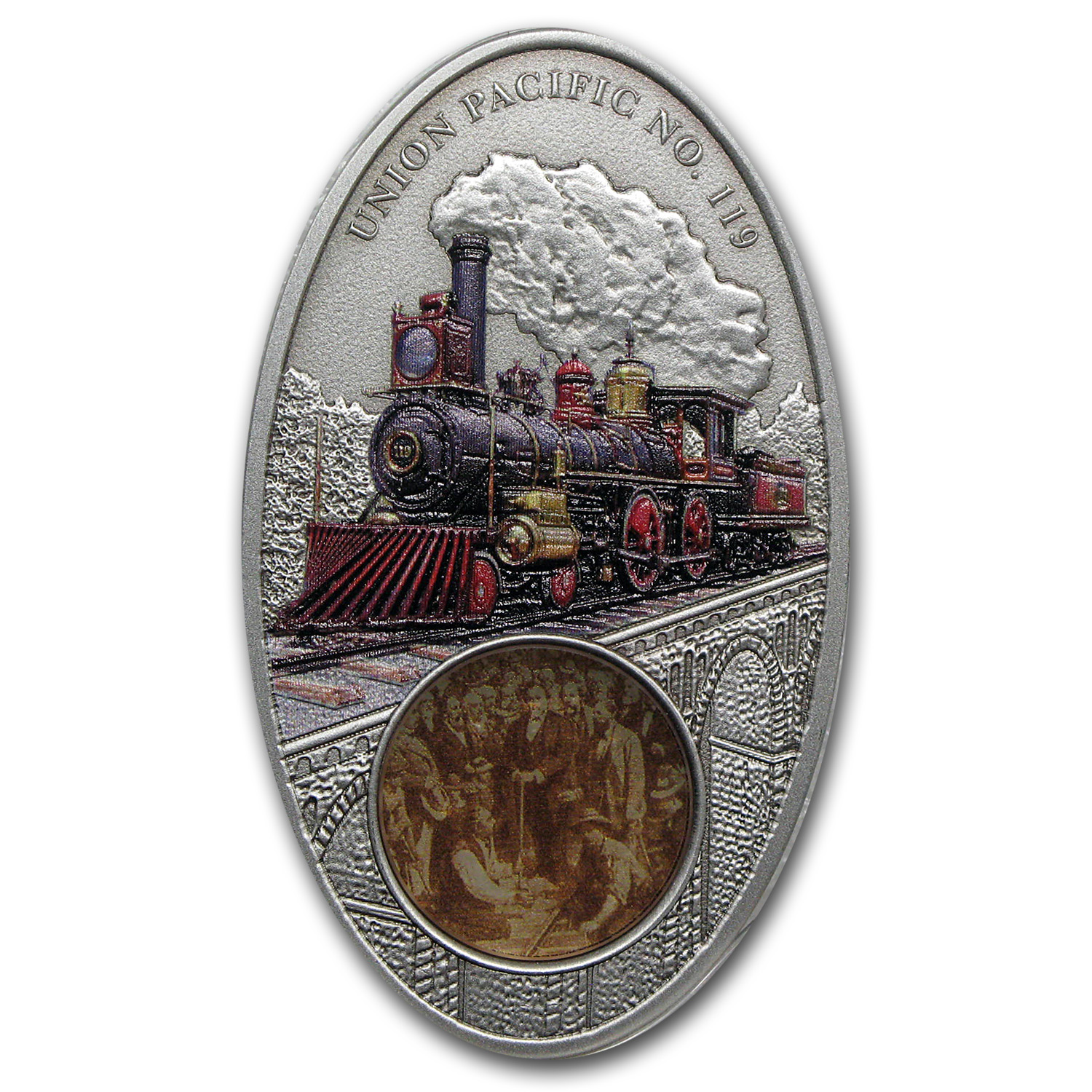 2013 Fiji Silver Famous Steam Locomotives Union Pacific No. 119