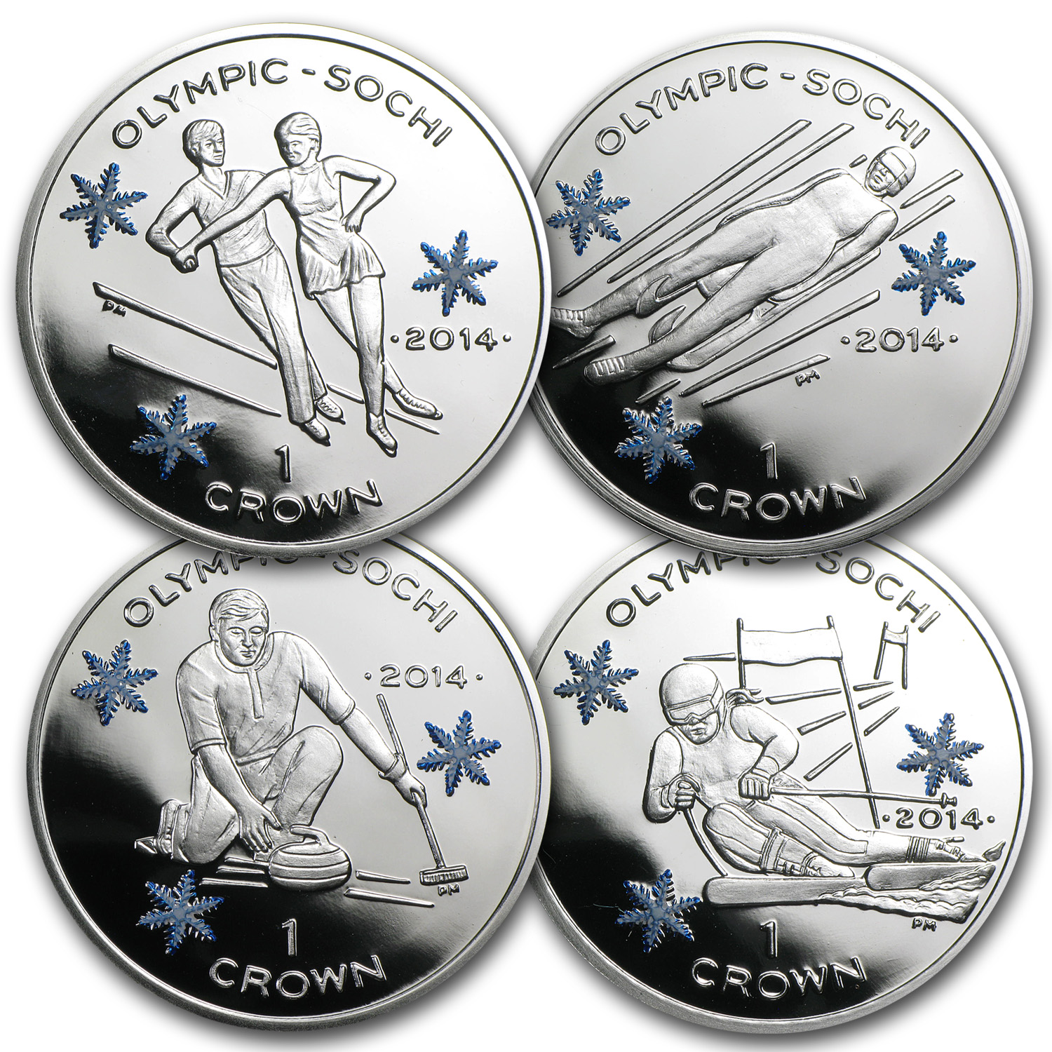 Isle of Man 2014 Silver Crown Sochi Olympics (ASW .841)