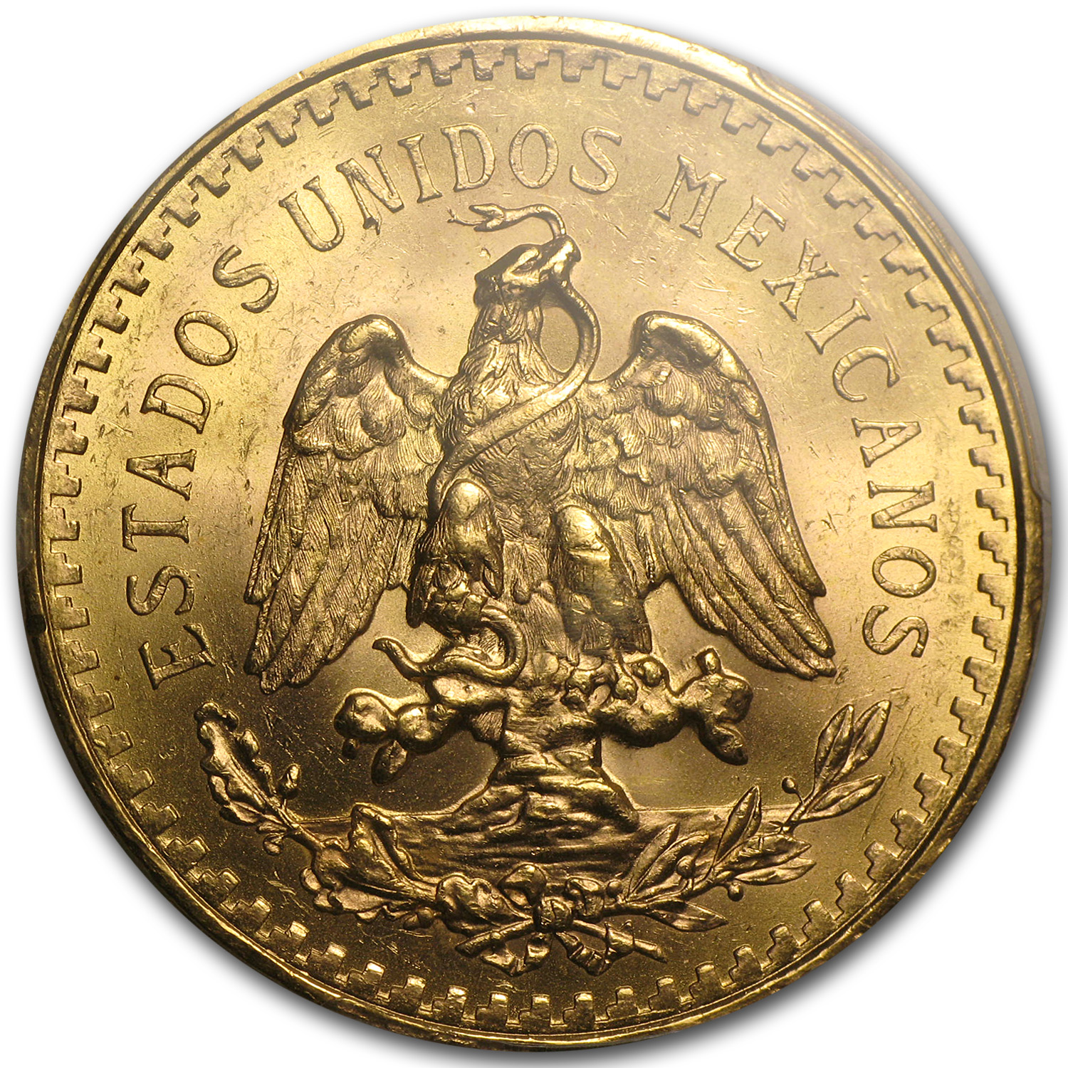 1944 Mexico Gold 50 Pesos MS-63 PCGS