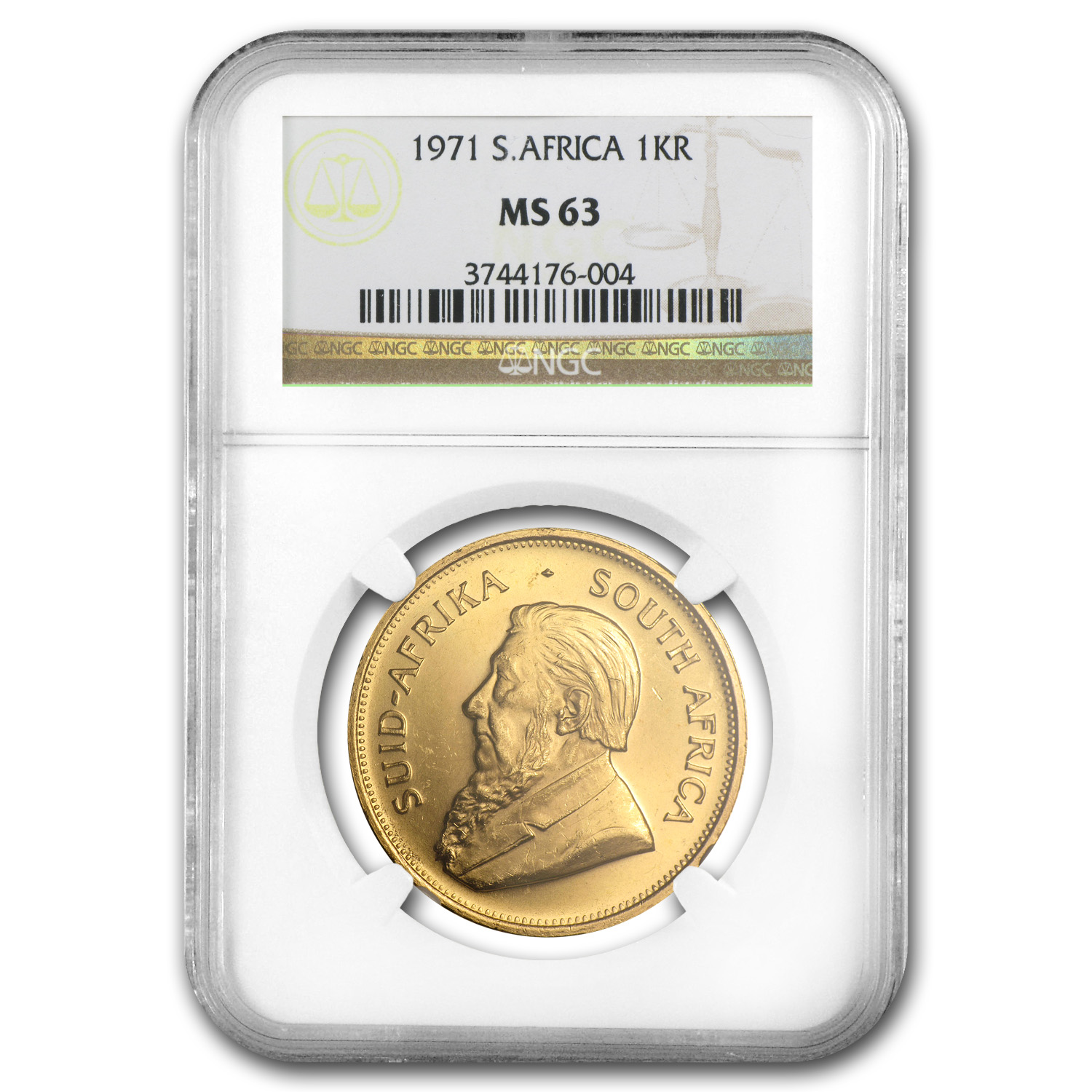 1971 1 oz Gold South African Krugerrand MS-63 NGC