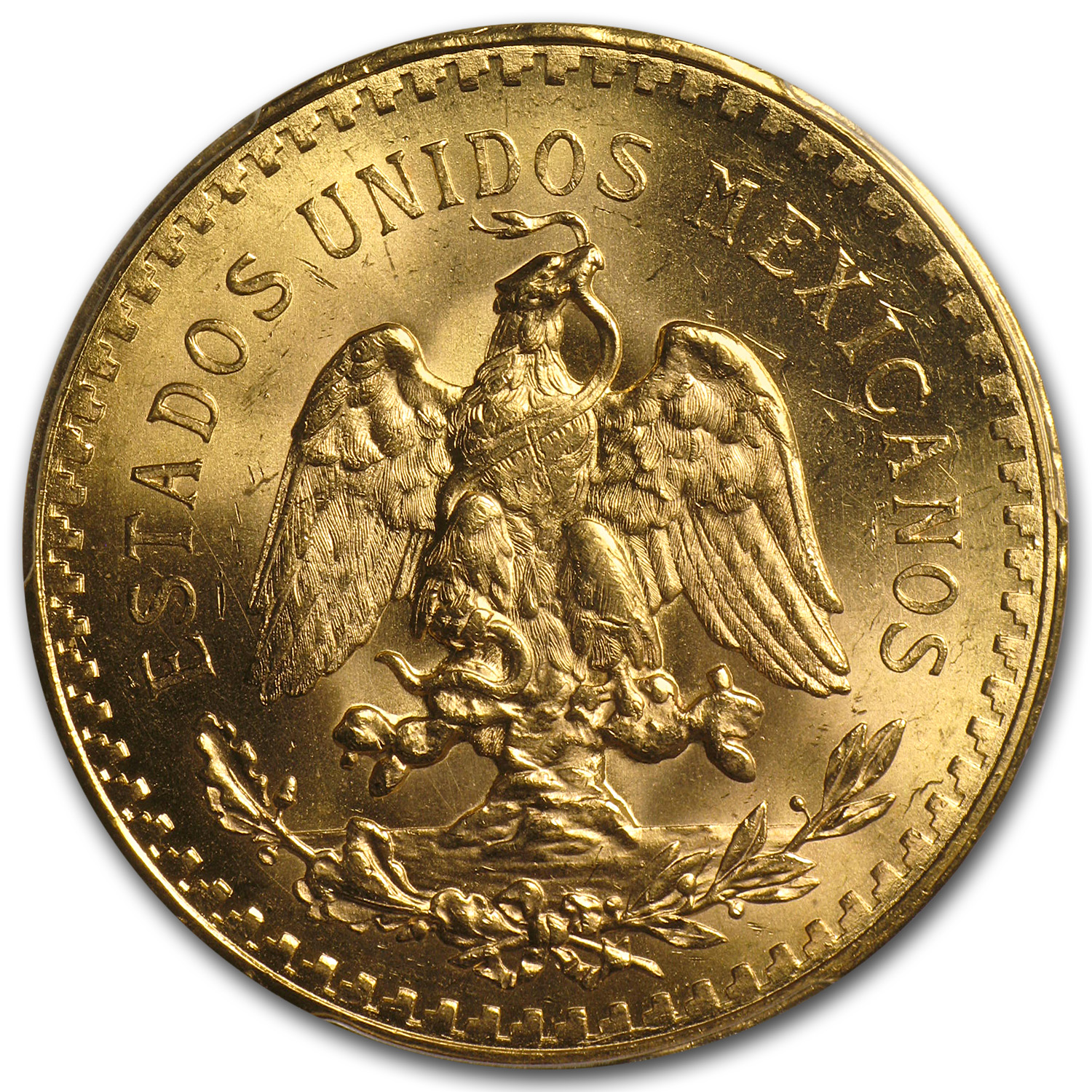 Mexico 1930 50 Pesos Gold Coin - MS-64+ PCGS (Secure Plus!)