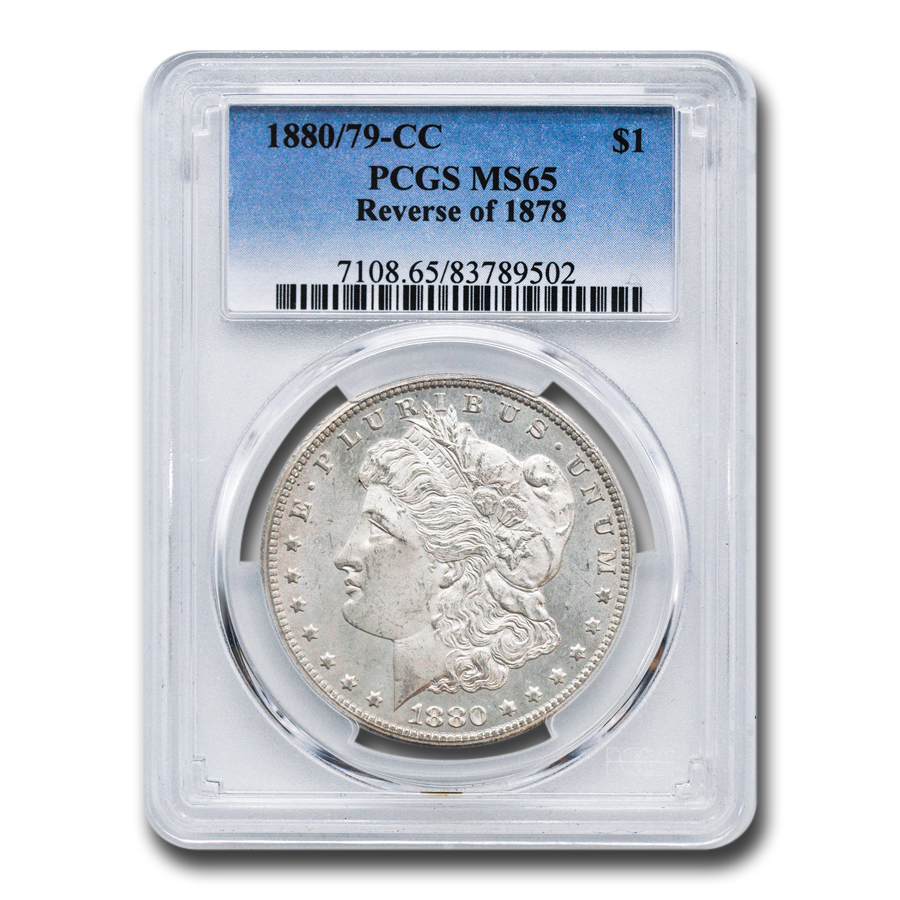 1880/79-CC Morgan Dollar Rev of 78 MS-65 PCGS