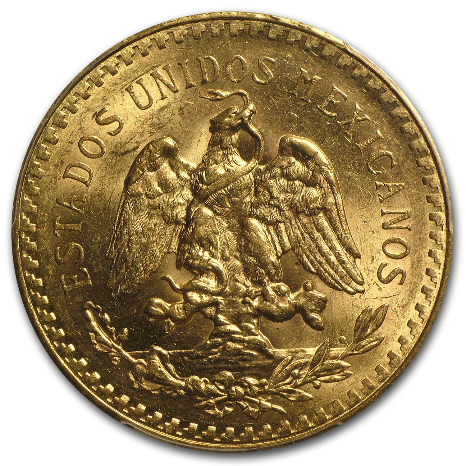 Mexico 1924 50 Pesos Gold Coin - MS-62 PCGS (Secure Plus!)