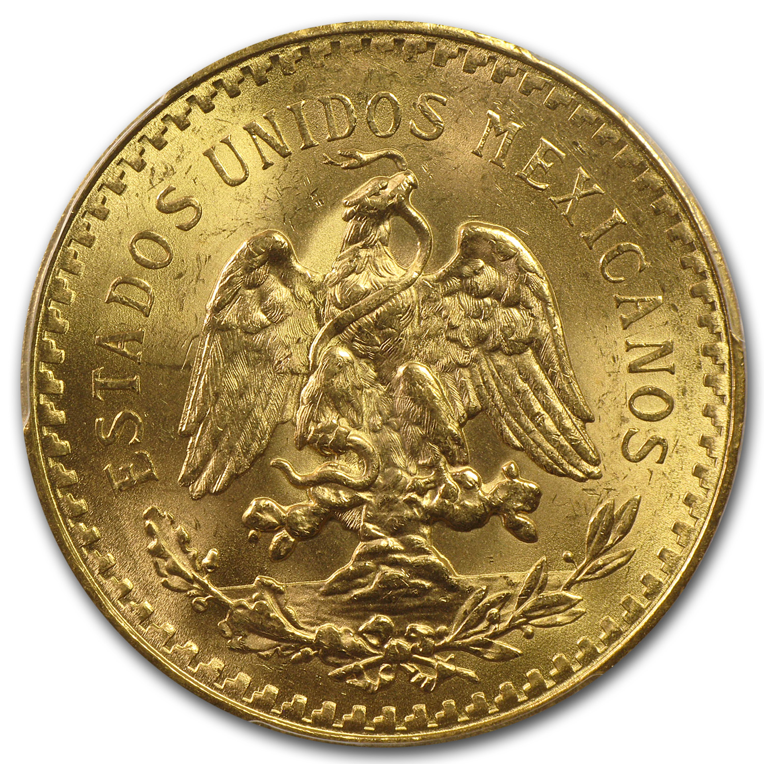 Mexico 1925 50 Pesos Gold Coin - MS-63+ PCGS (Secure Plus!)