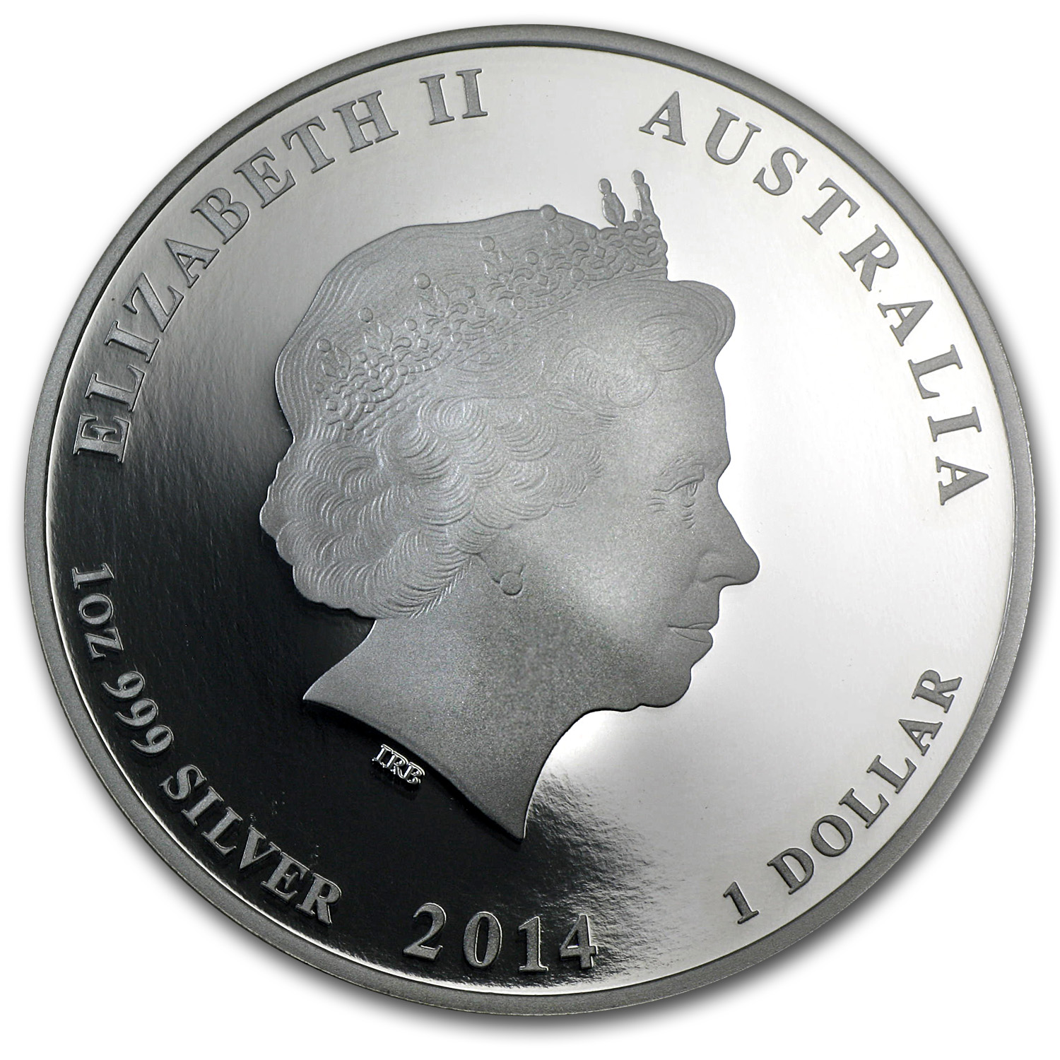 2014 1 oz Silver Australian Yr of the Horse PF-70 NGC (Colorized)