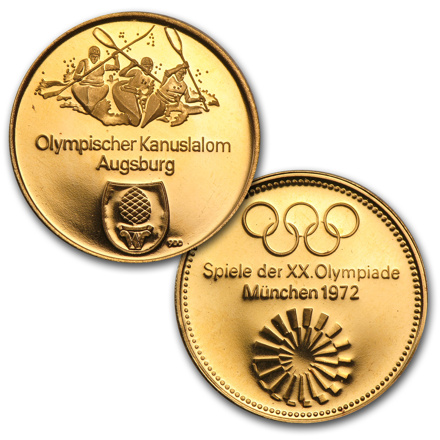 1972 Germany 4-Medal Gold Munich Olympics Proof Set