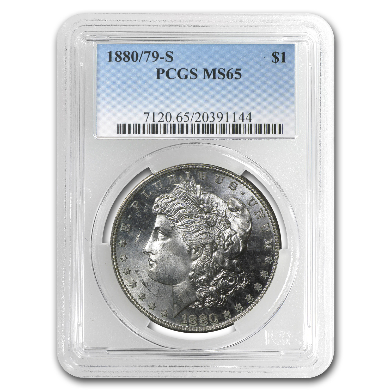 1880/79-S Morgan Dollar MS-65 PCGS