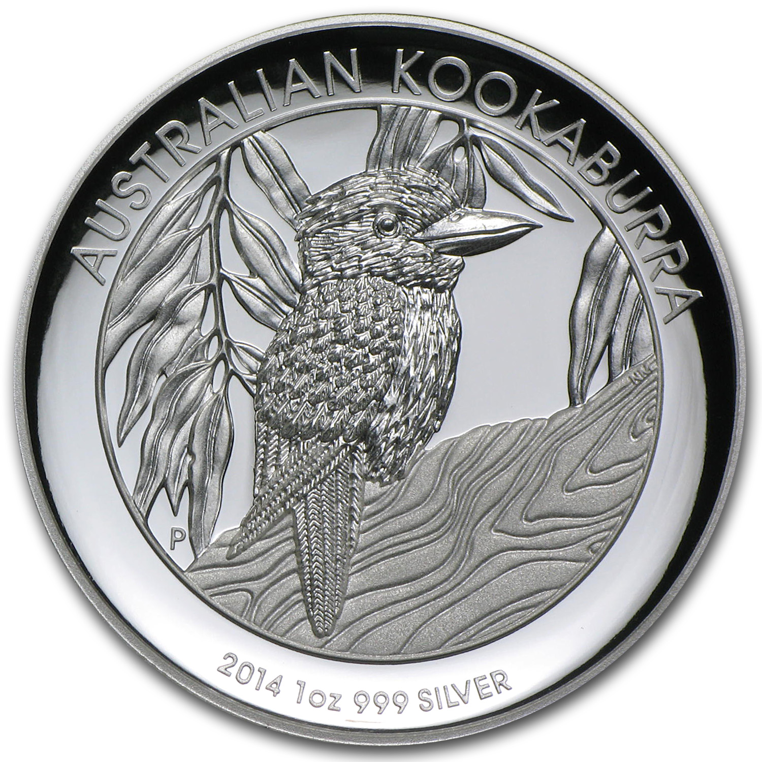 2014 1 oz Proof Silver Australian High Relief Kookaburra