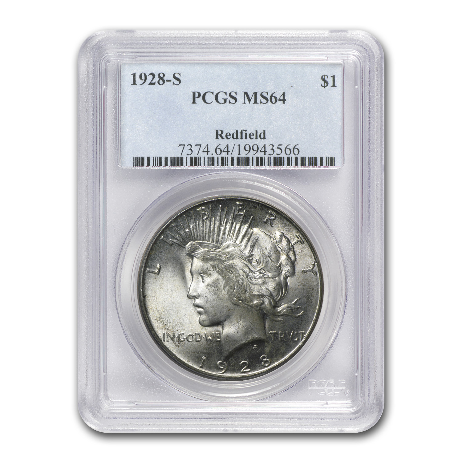 1928-S Peace Dollar MS-64 PCGS (Redfield Hoard)