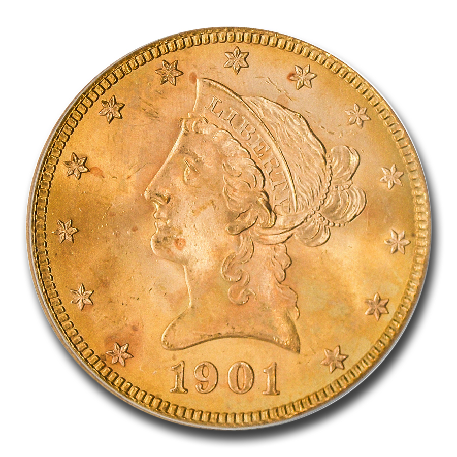 1901-S $10 Liberty Gold Eagle - MS-66 PCGS