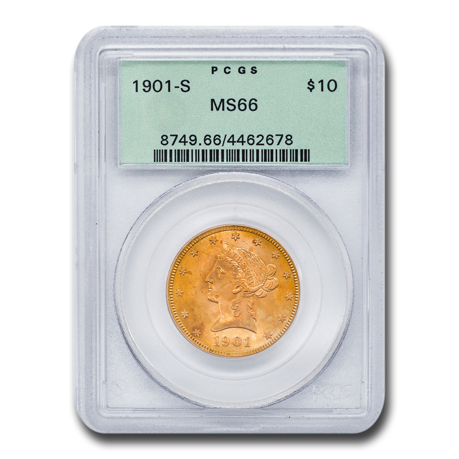 1901-S $10 Liberty Gold Eagle MS-66 PCGS