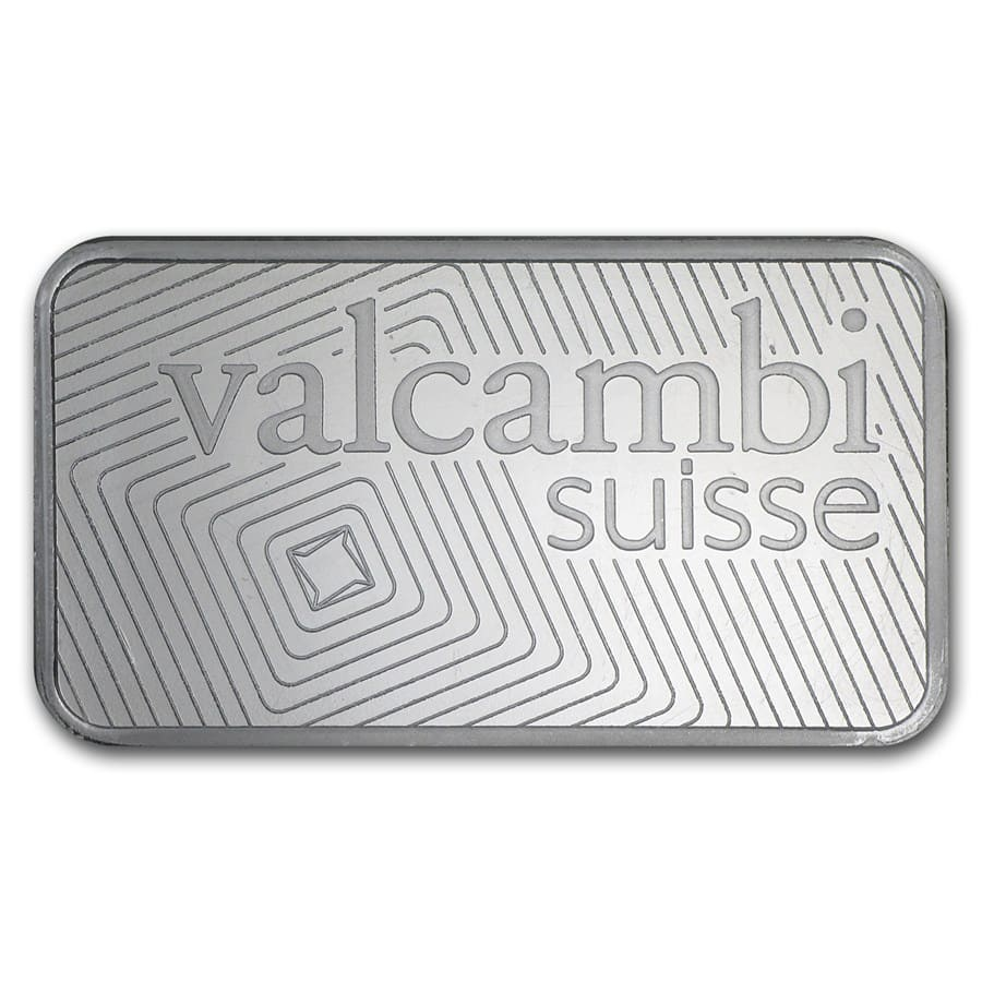 100 gram Silver Bar - Valcambi (w/Assay)