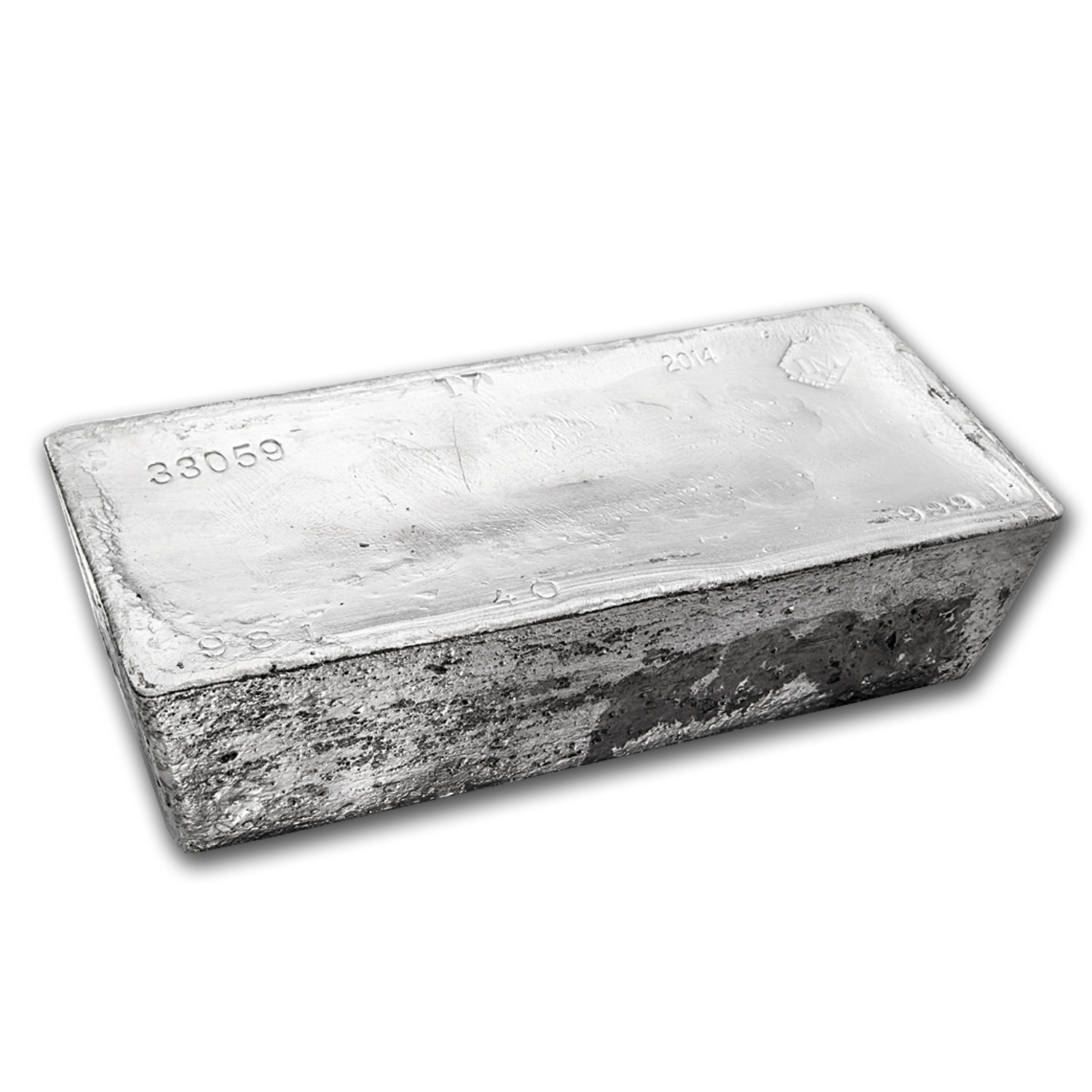 1007.60 oz Silver Bar - Johnson Matthey