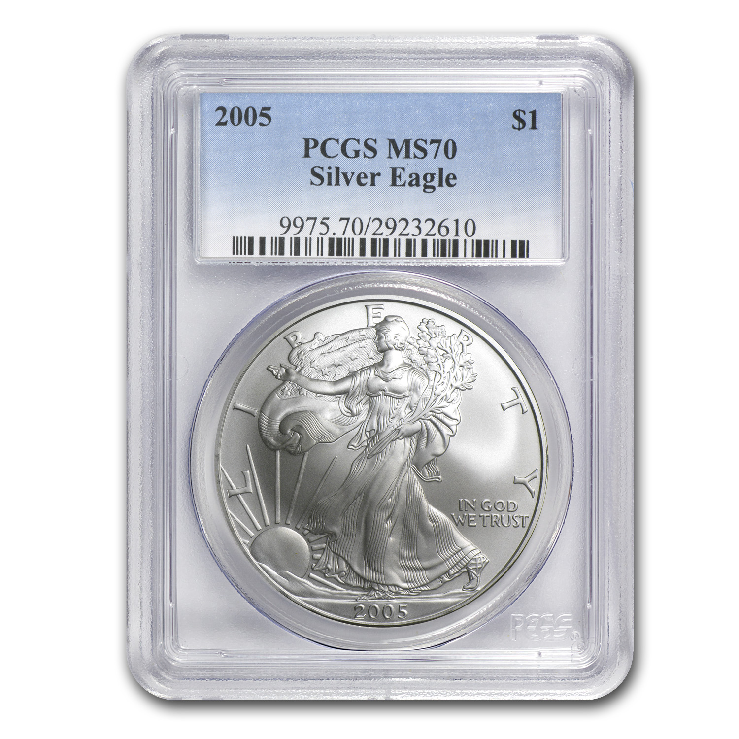 2005 Silver American Eagle MS-70 PCGS (Registry Set)