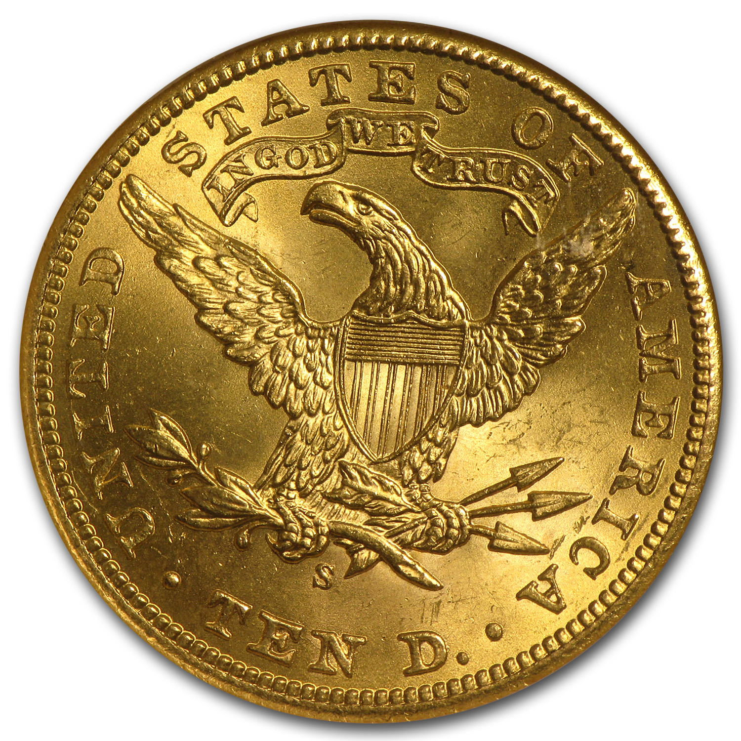 $10 Liberty Gold Eagle MS-64 PCGS/NGC (CAC, Random)