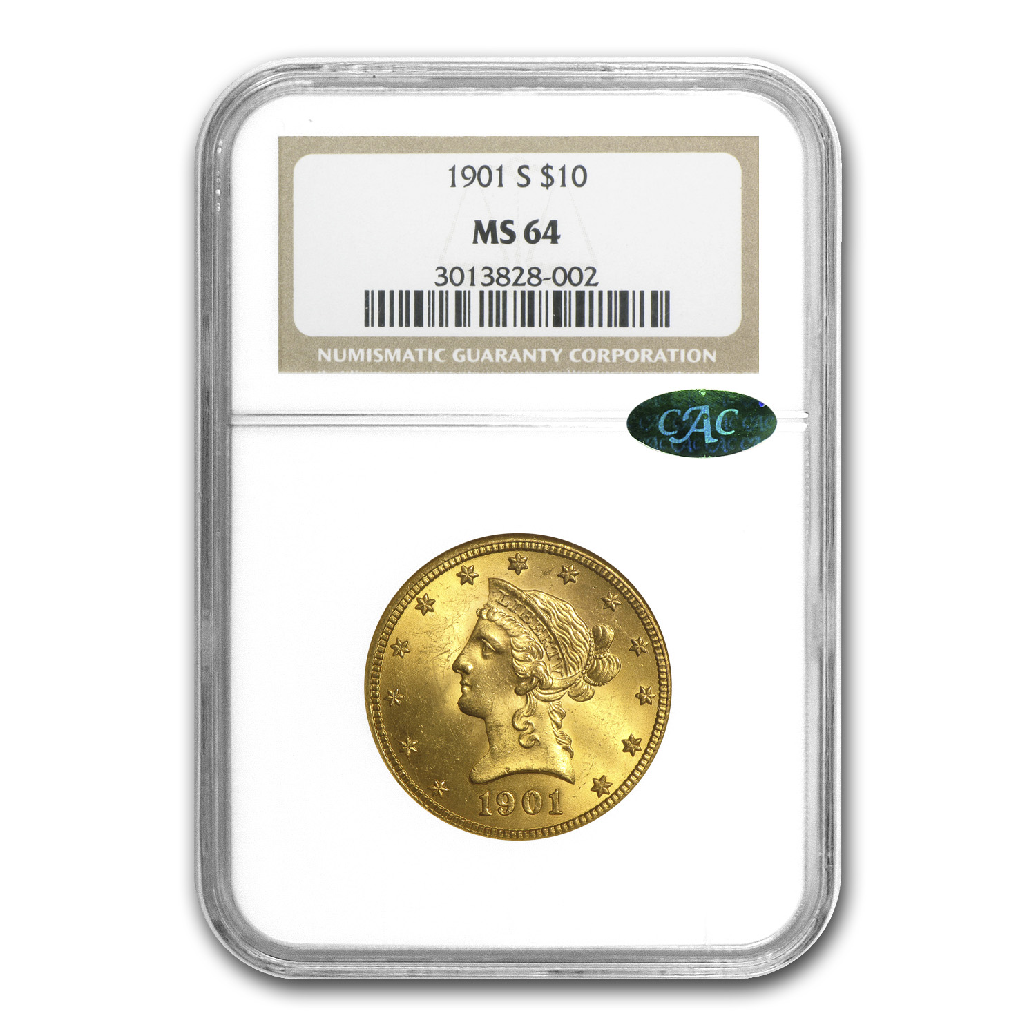 $10 Liberty Gold Eagle MS-64 PCGS/NGC (CAC)