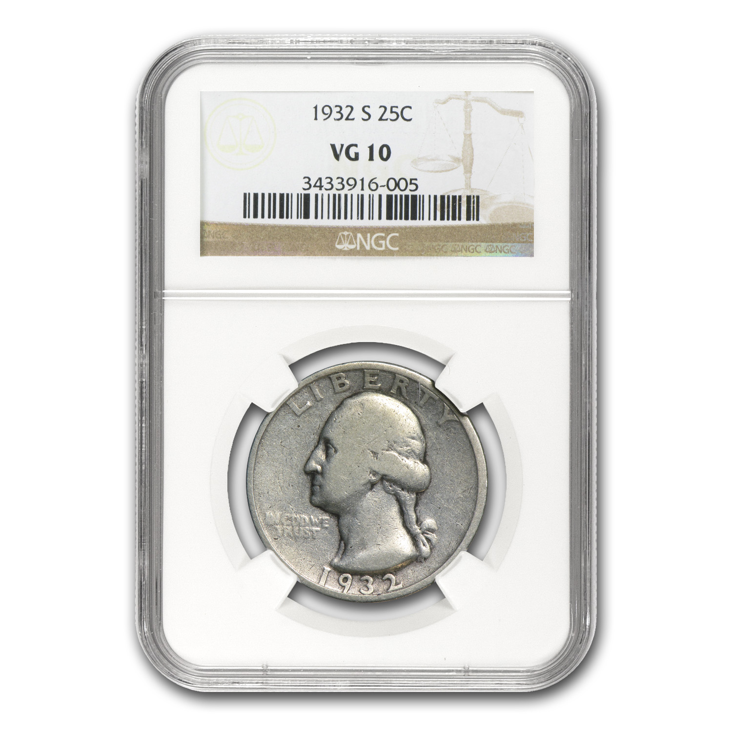 1932-S Washington Quarter VG-10 NGC