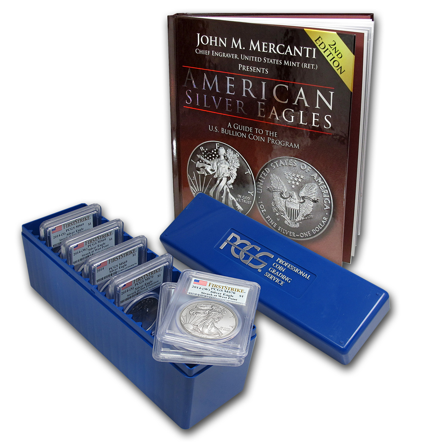 2014 Silver American Eagle (6 Coin) PCGS First Strike set