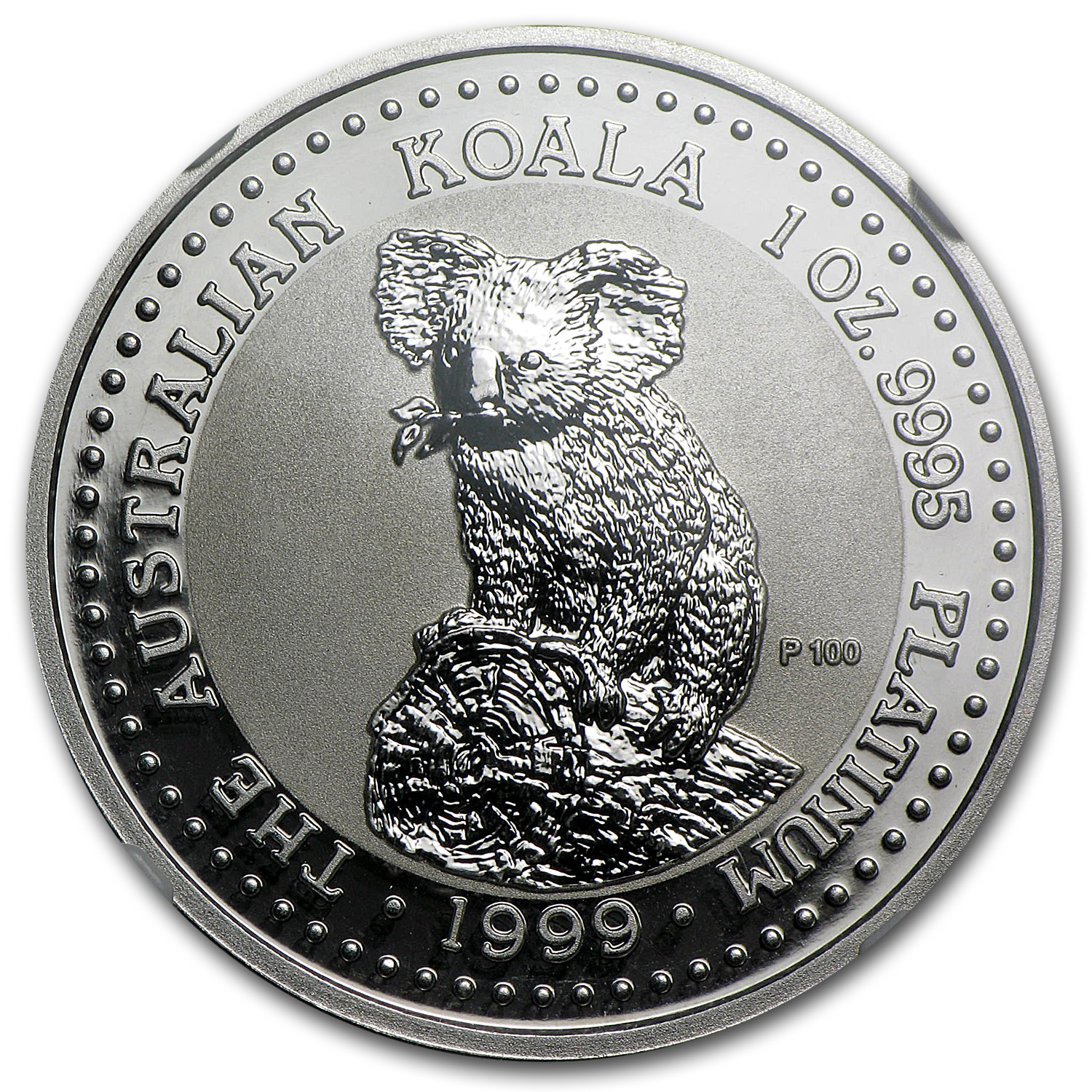 1999 1 oz Australian Platinum Koala MS-70 NGC (Registry Set)