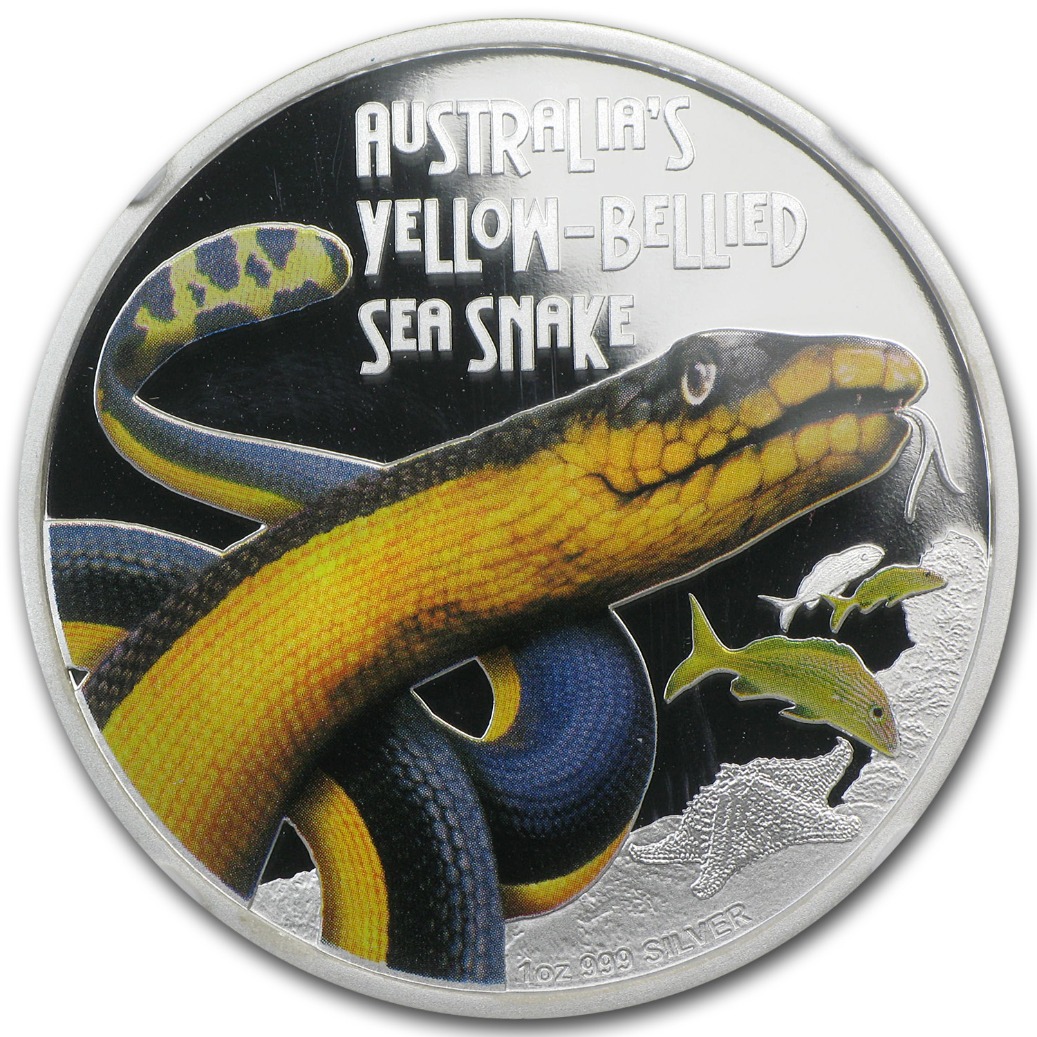 2013 Australia 1 oz Silver Yellow-Bellied Snake PF-70 NGC