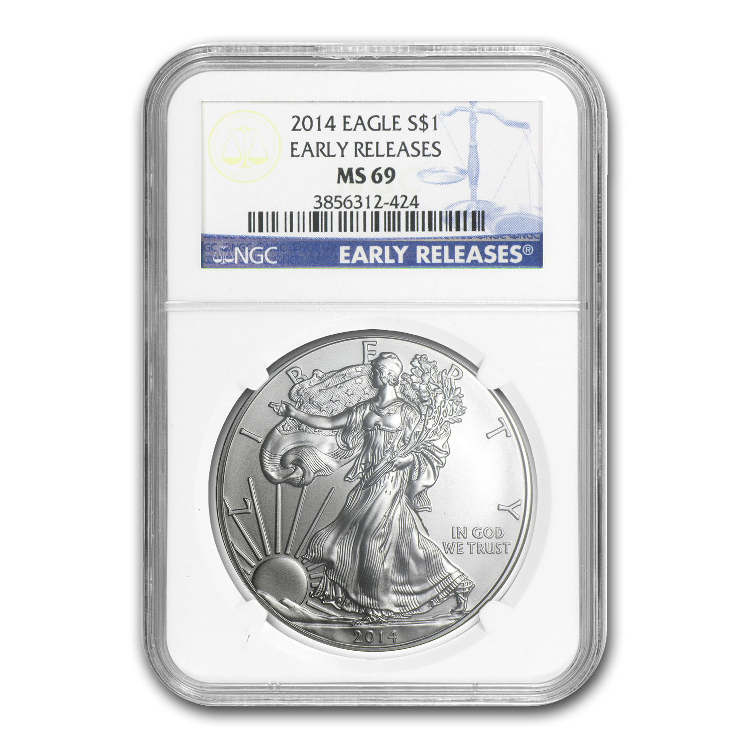 2014 Silver American Eagle (6 Coin) NGC Early Releases set