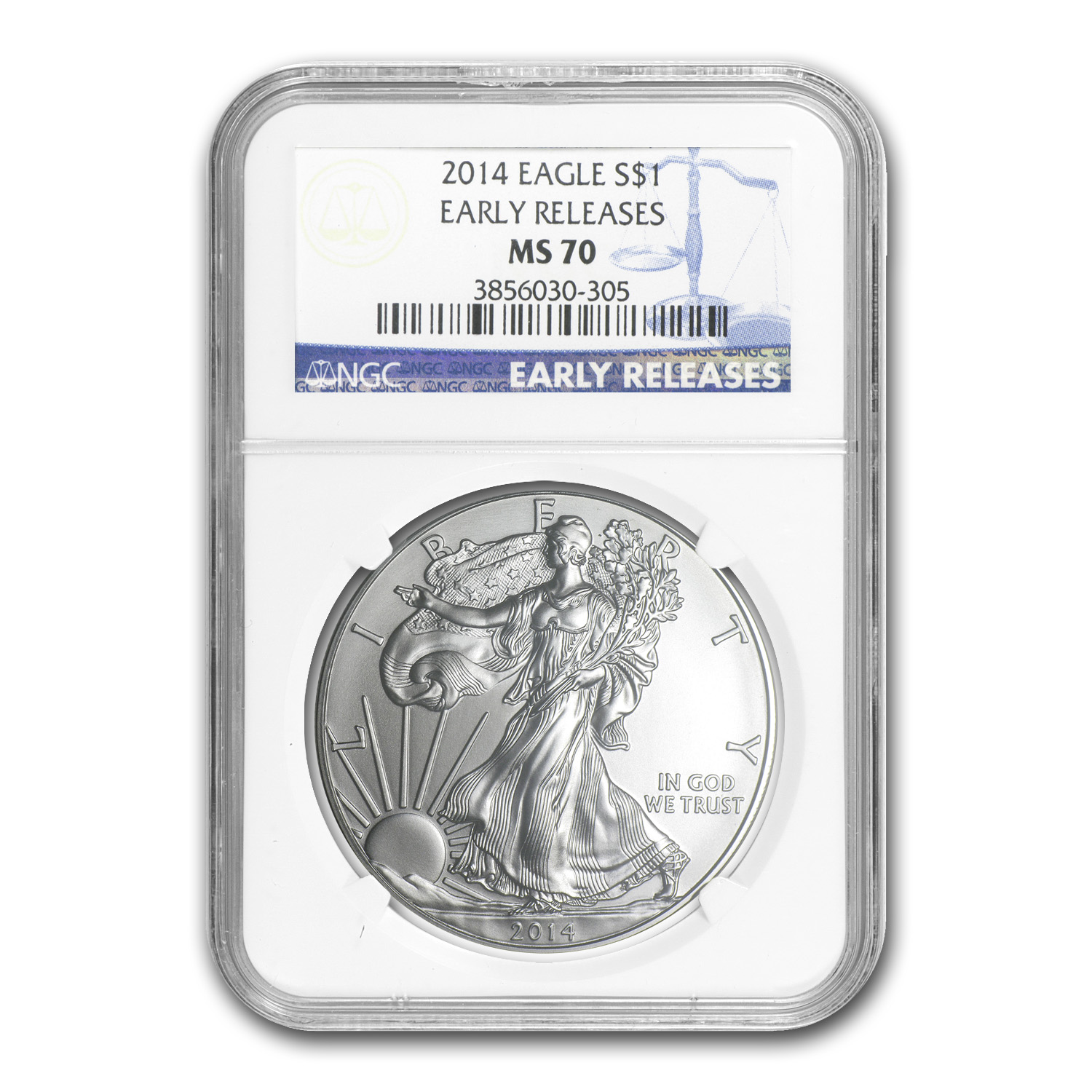 2014 6-Coin Silver American Eagle Set MS-69/70 NGC (ER)