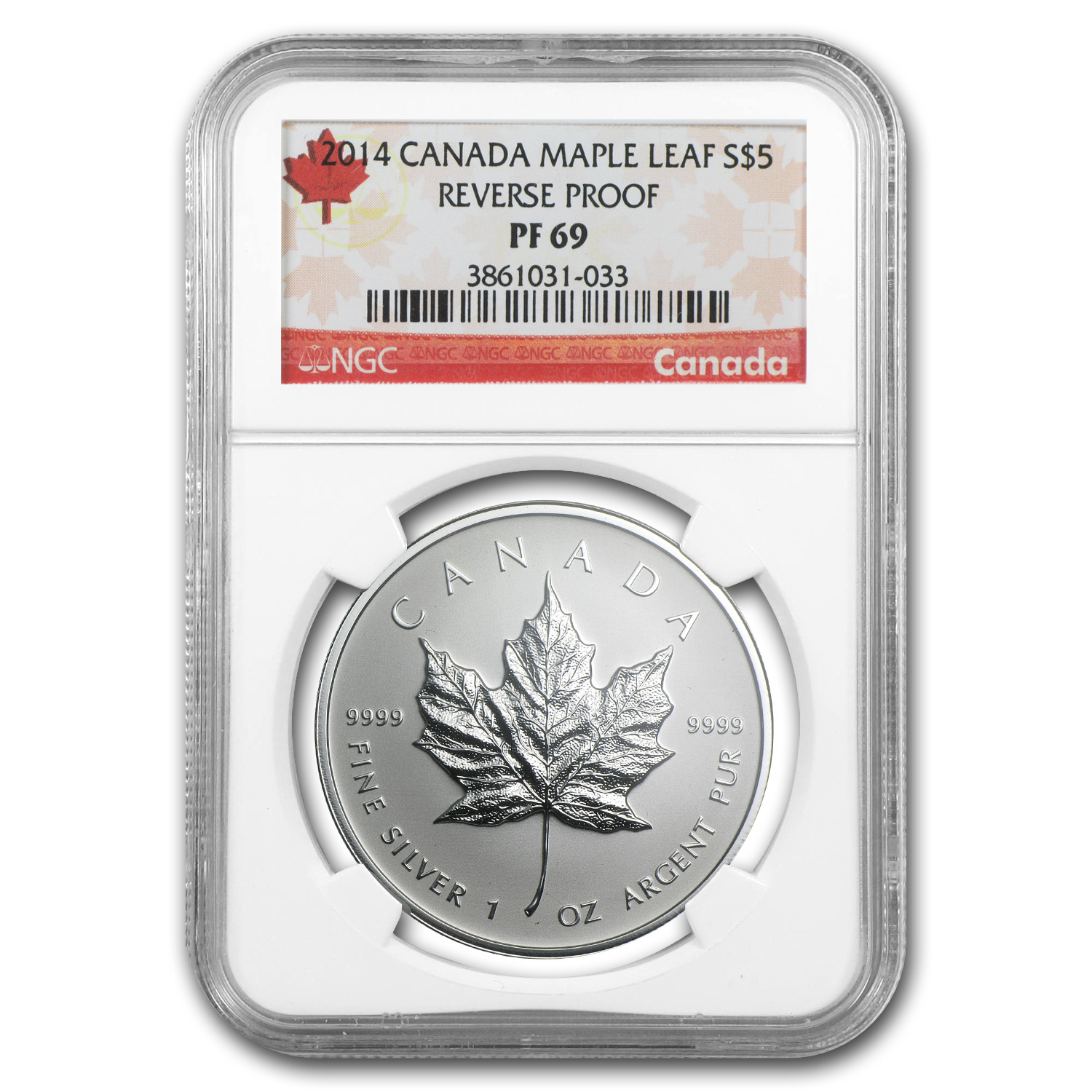 2014 Canada 1 oz Reverse Proof Silver Maple Leaf PF-69 NGC