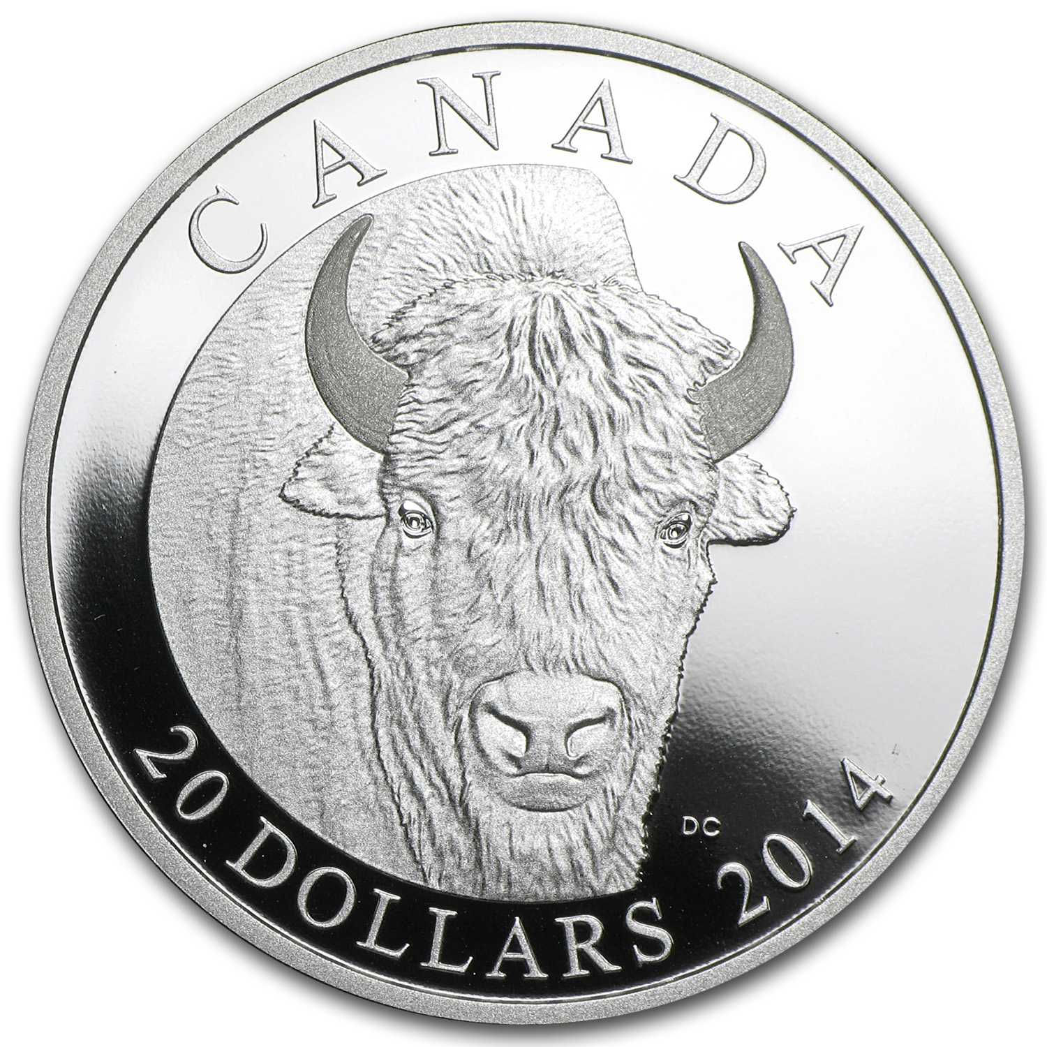 2014 1 oz Silver Canadian Bison Portrait Proof (w/Box & COA)