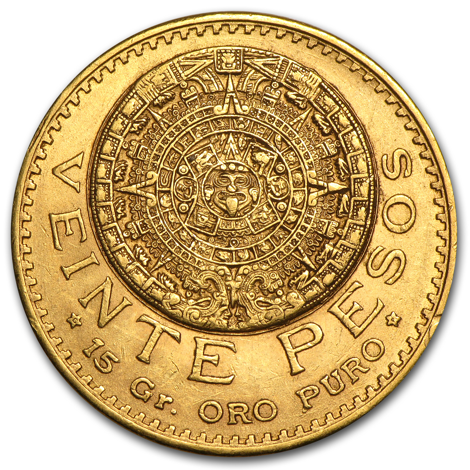 Mexican Gold 20 Pesos AGW .4823 (Better Dates) (AU/BU)
