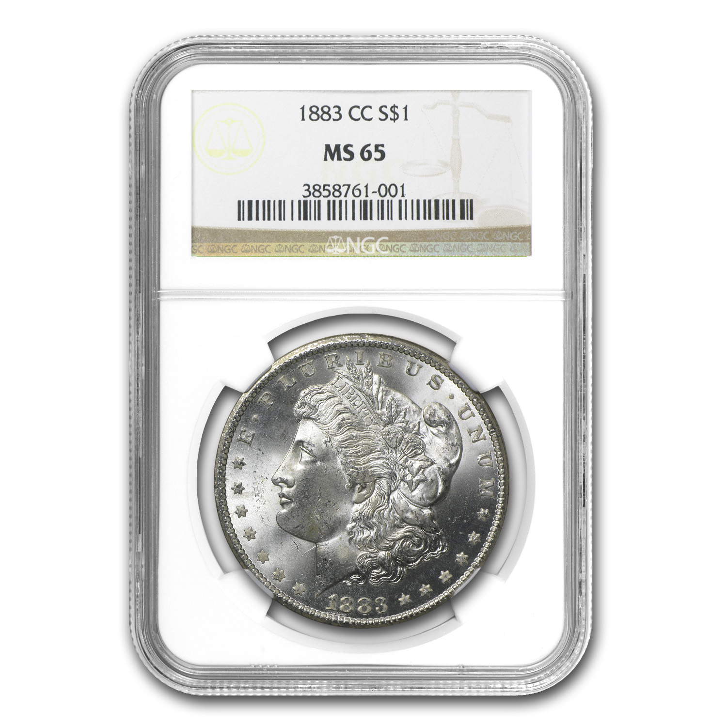 1882-1884-CC Morgan Dollars - MS-65 NGC - Carson City