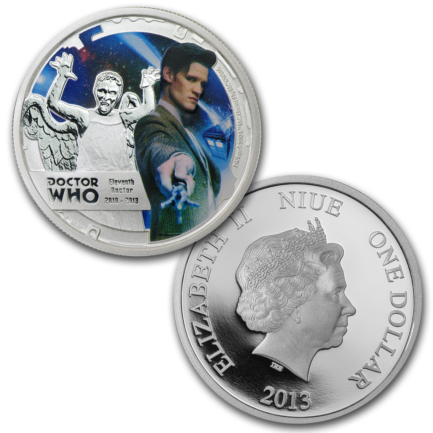 2013 Niue 11-Coin 1/2 oz Silver $1 Doctor Who Set (5.5 oz ASW)