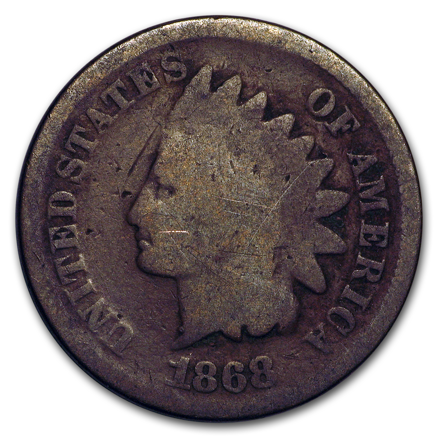 1868 Indian Head Cent Fair/AG