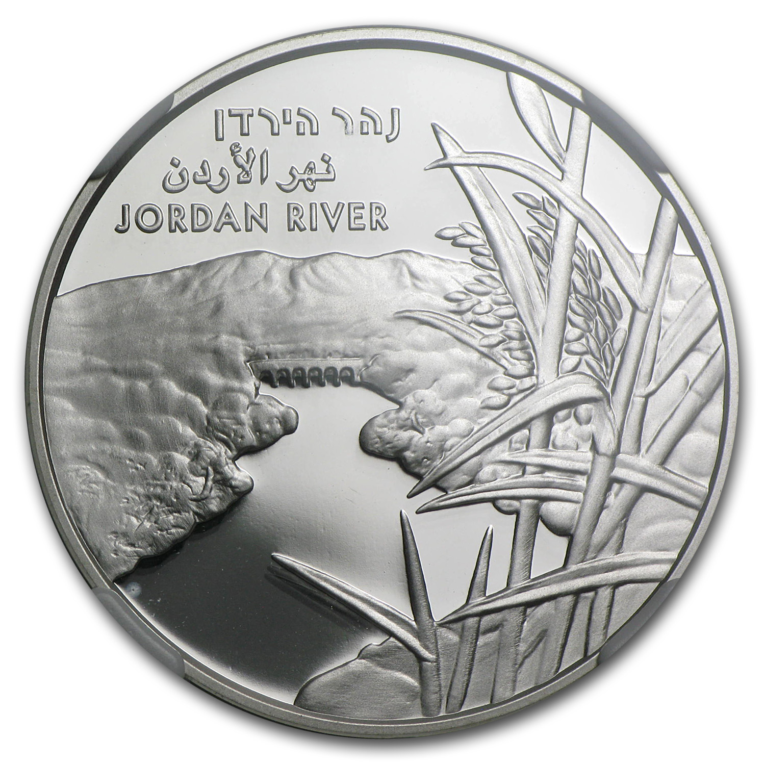 2013 Israel The Jordan River Silver 1 NIS MS-69 NGC (ER)