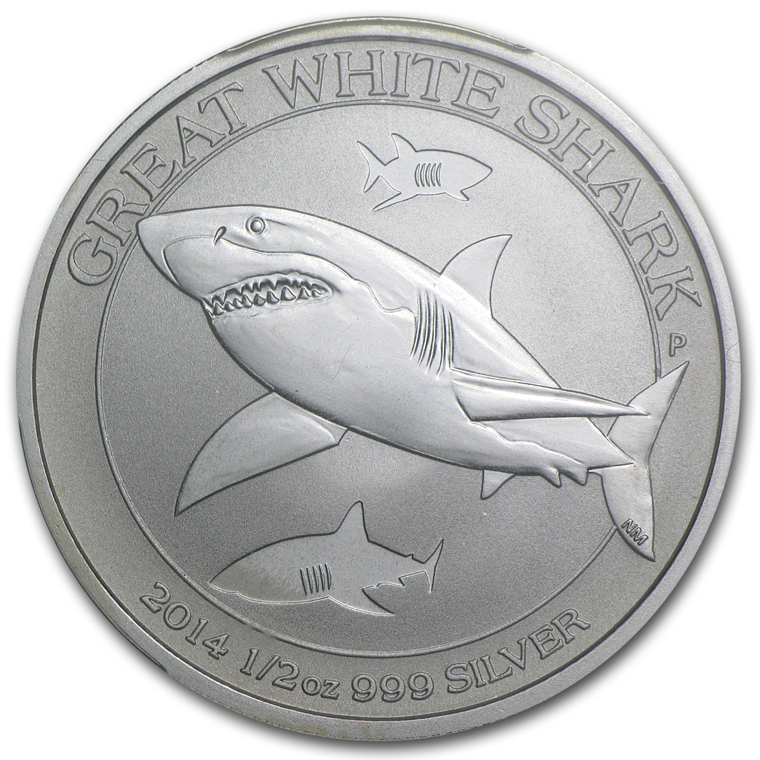 2014 1/2 oz Silver Australian Great White Shark MS-69 PCGS (FS)