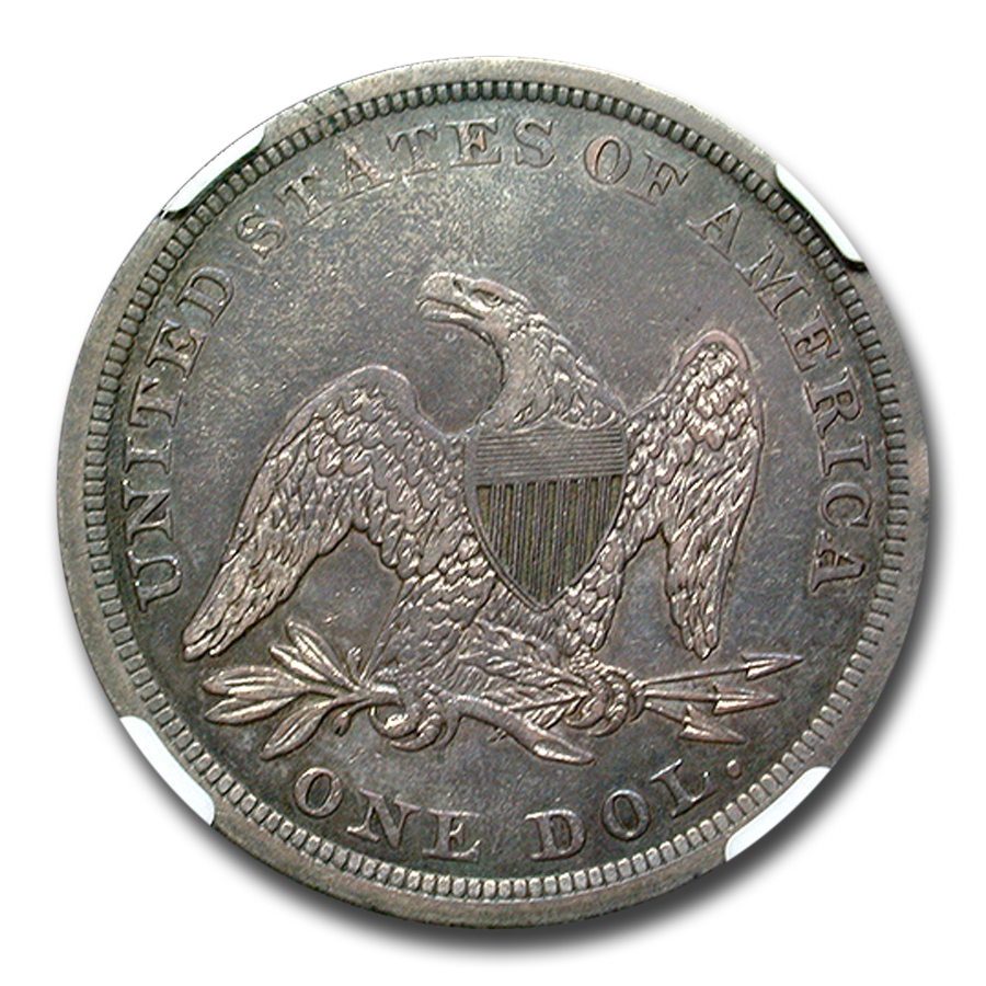 1841 Liberty Seated Dollar XF-40 NGC