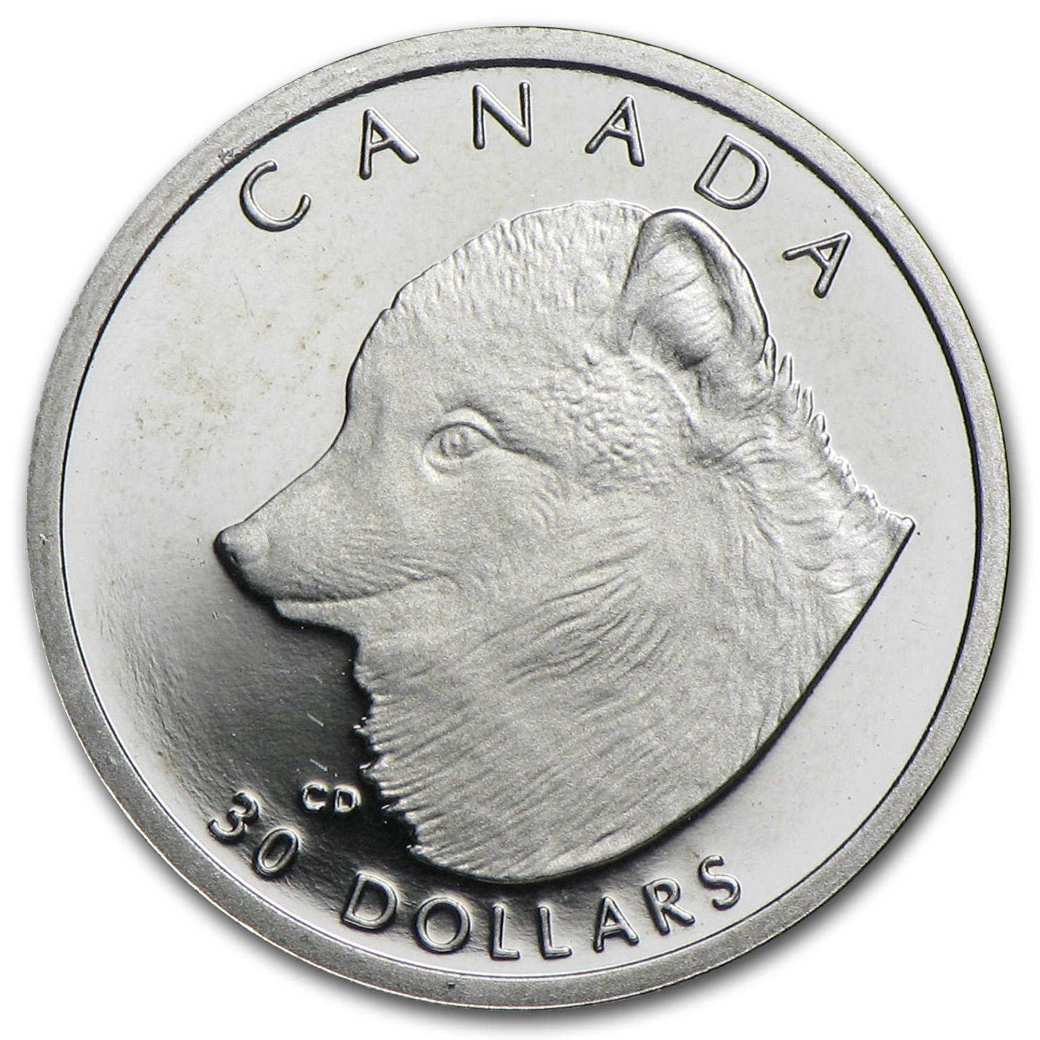 1993 Canada 1/10 oz Proof Platinum Arctic Fox