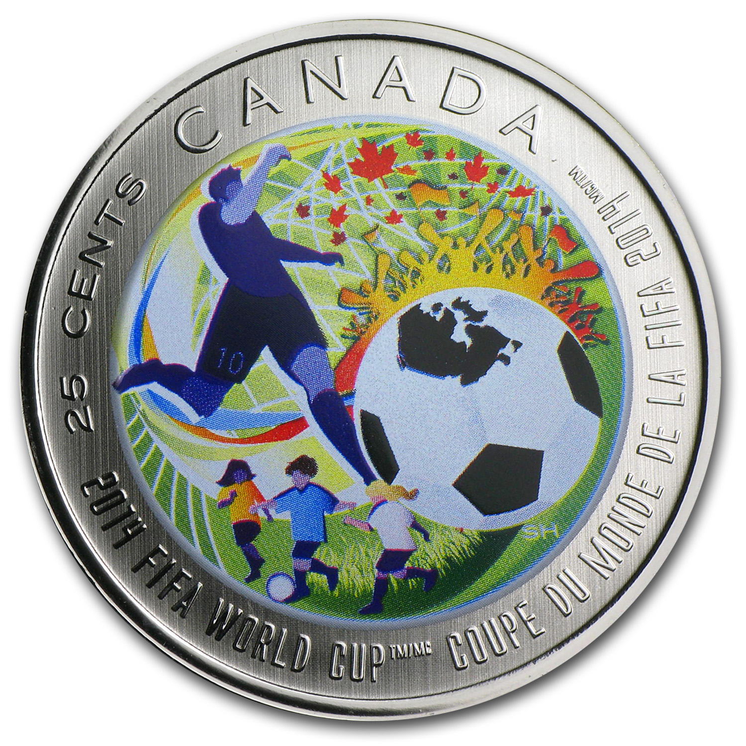 2014 Canada $0.25 2014 FIFA World Cup™ (Colored)