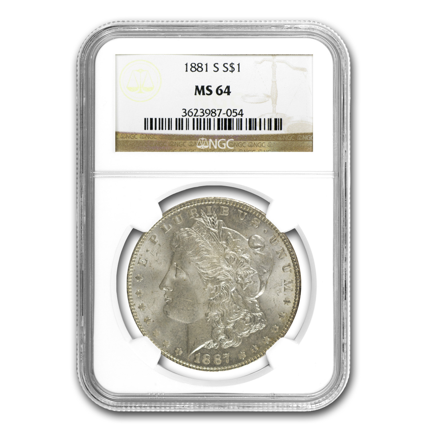 1878-1904 Morgan Dollars - MS-64 NGC - 10 Different Dates/Mints